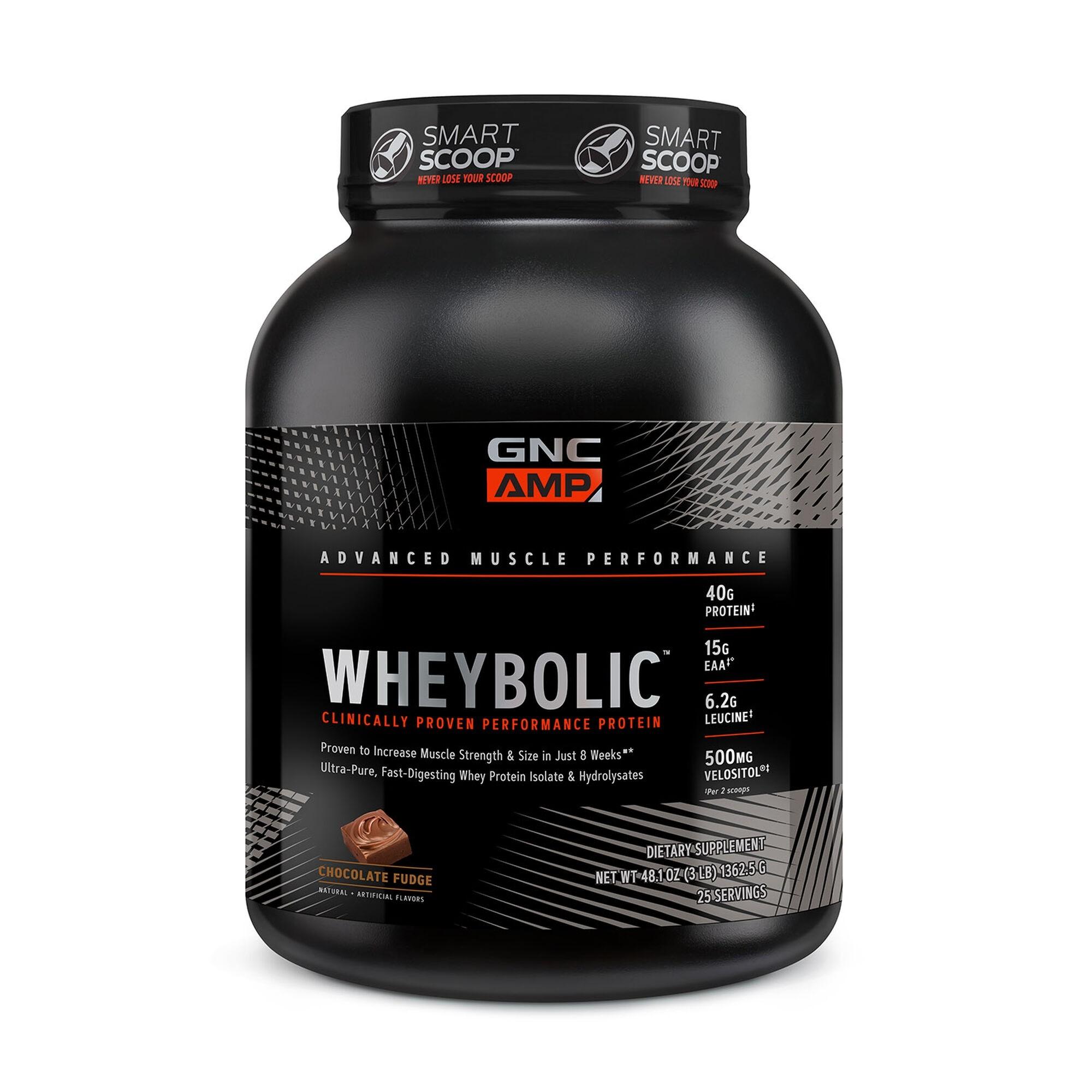 GNC AMP Wheybolic™, Proteina din Zer, cu Aroma de Ciocolata, 1362.5 g