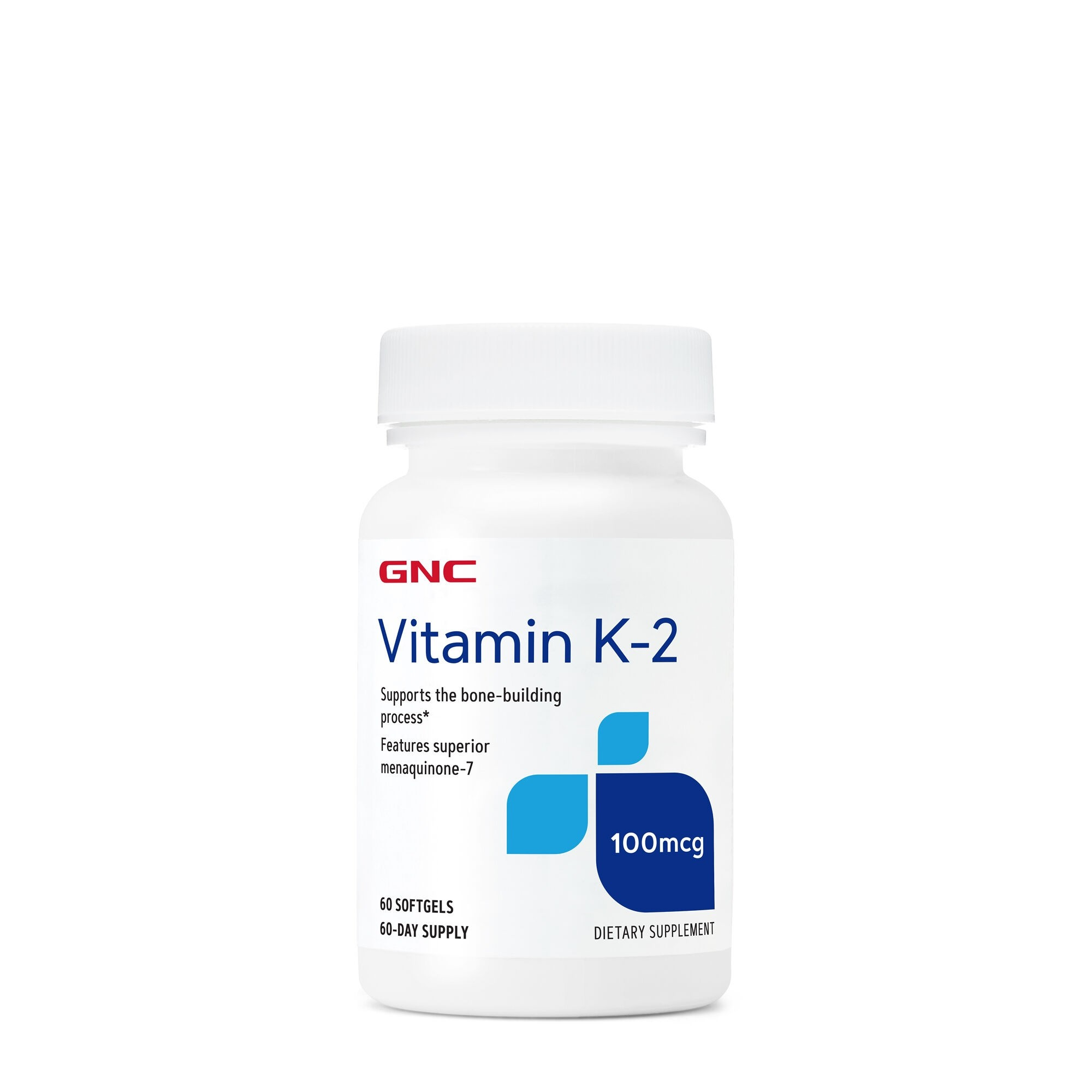 GNC Vitamin K-2 100 mcg, Vitamina K 2, 60 cps