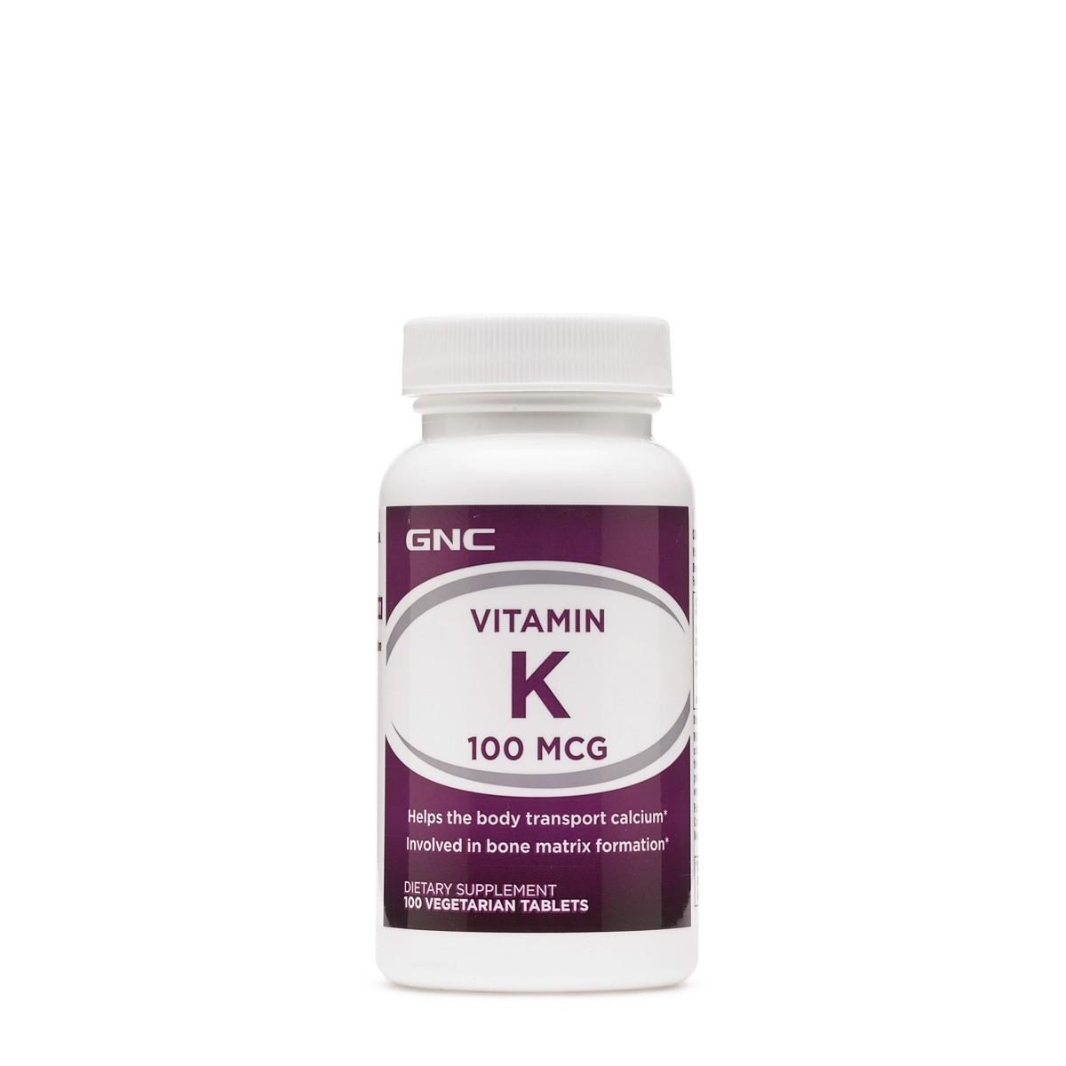 GNC Vitamin K 100 mcg, Vitamina K, 100 tb