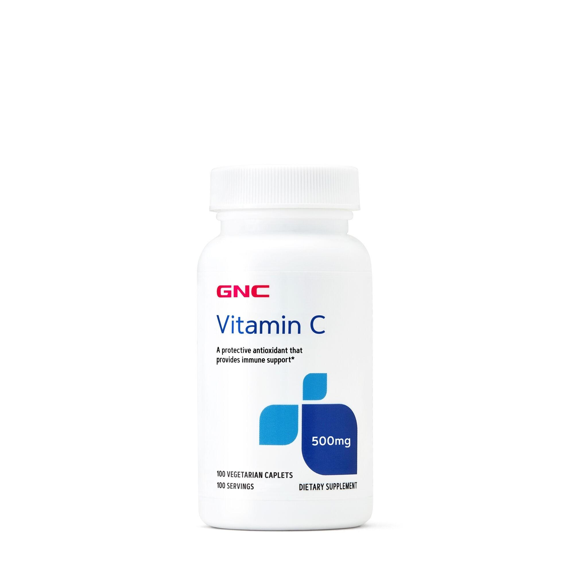 GNC Vitamin C 500 mg, Vtamina C, 100 tb