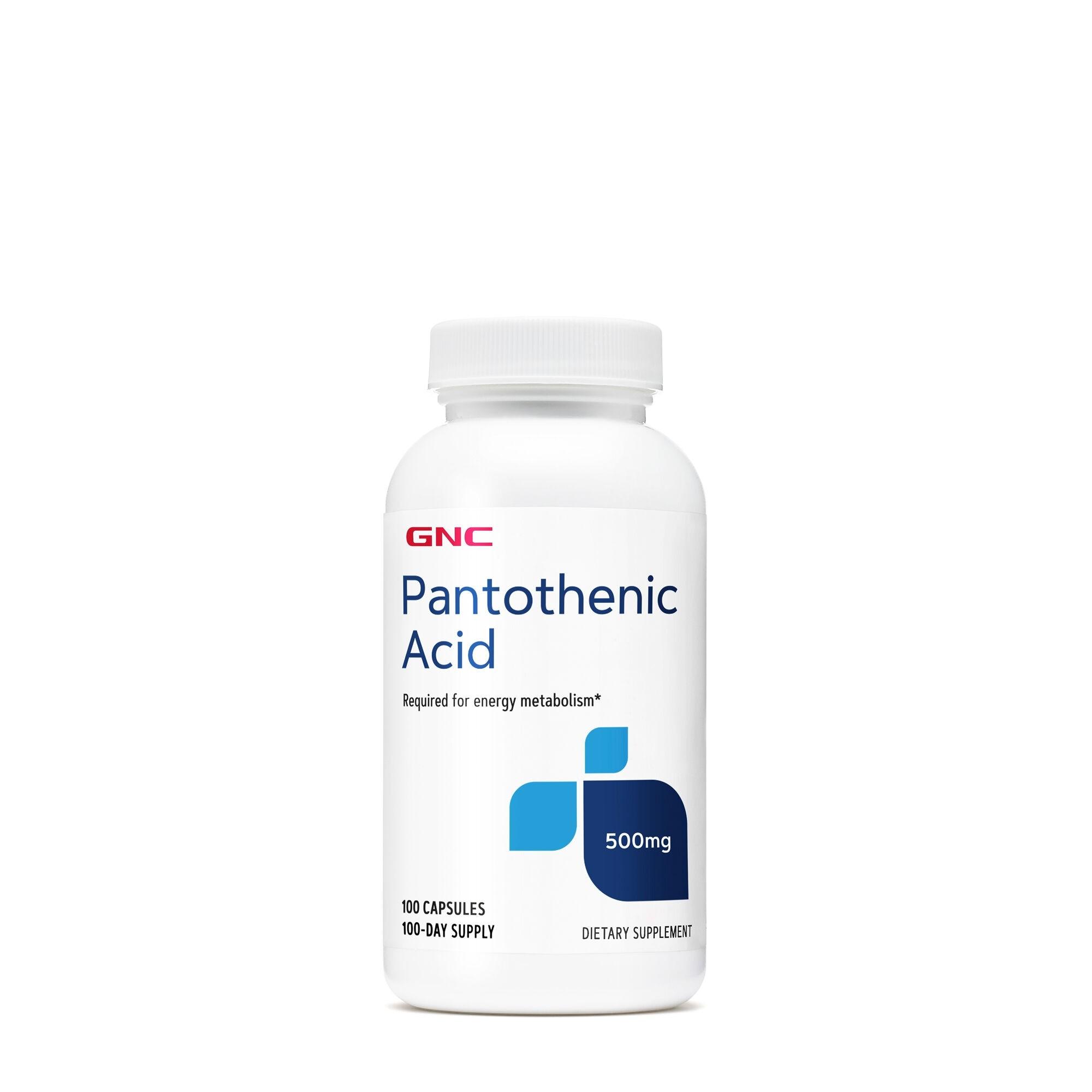 GNC Pantothenic Acid 500 mg, Acid Pantotenic, 100 cps