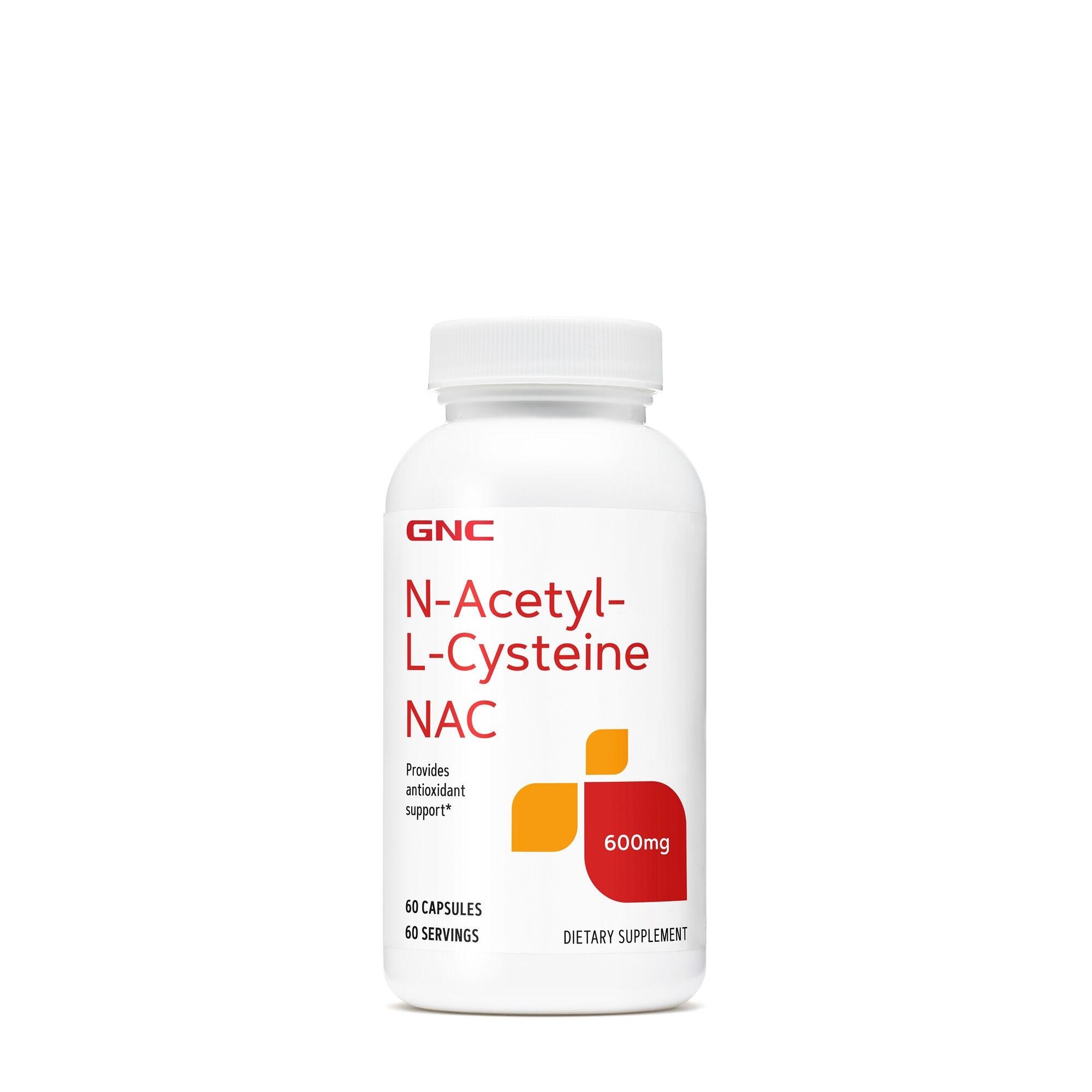 GNC N-Acetyl-L-Cysteine (NAC) - 600 mg, Antioxidant N-Acetil-L-Cisteina, 60 cps