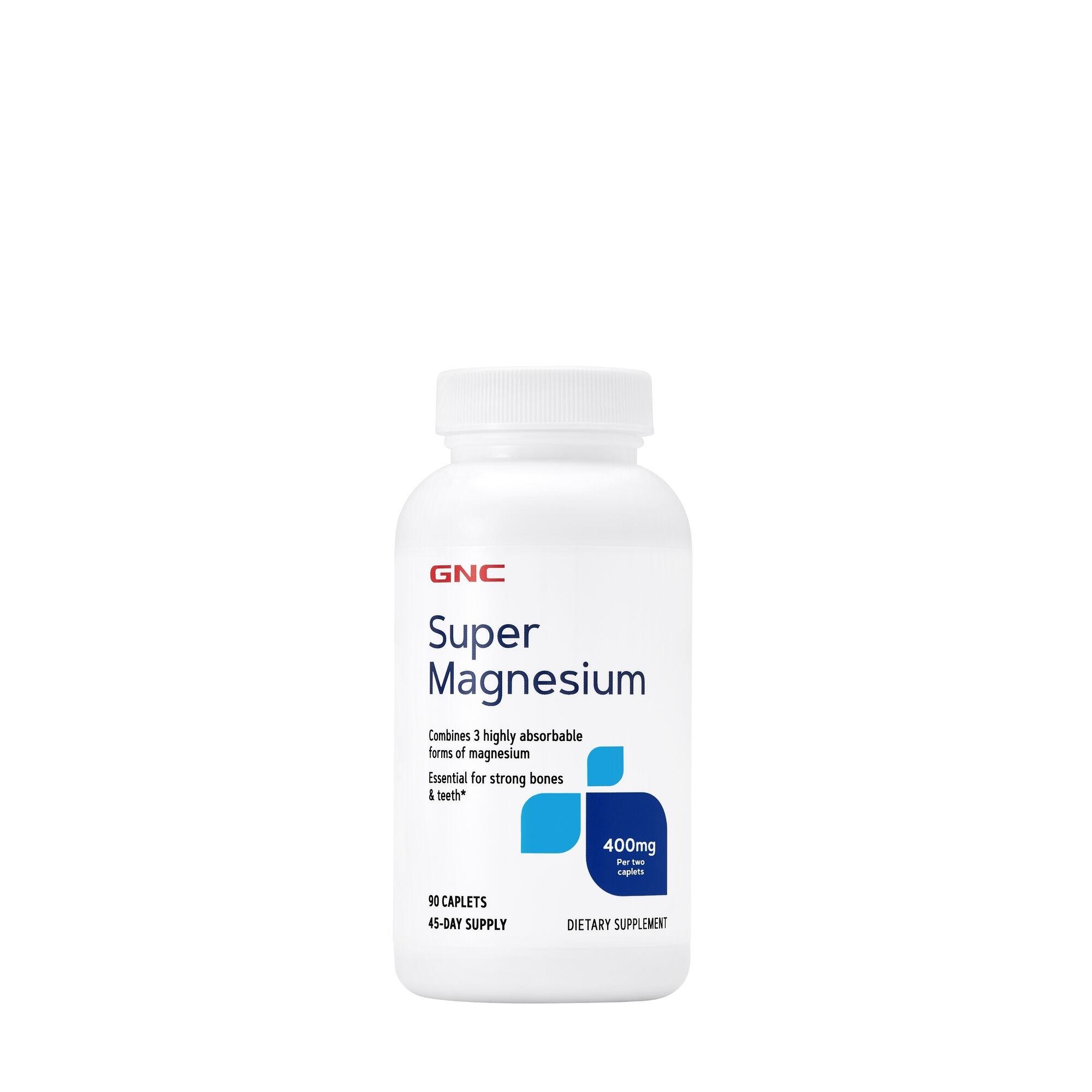 GNC Super Magnesium 400 mg, Magneziu, 90 tb