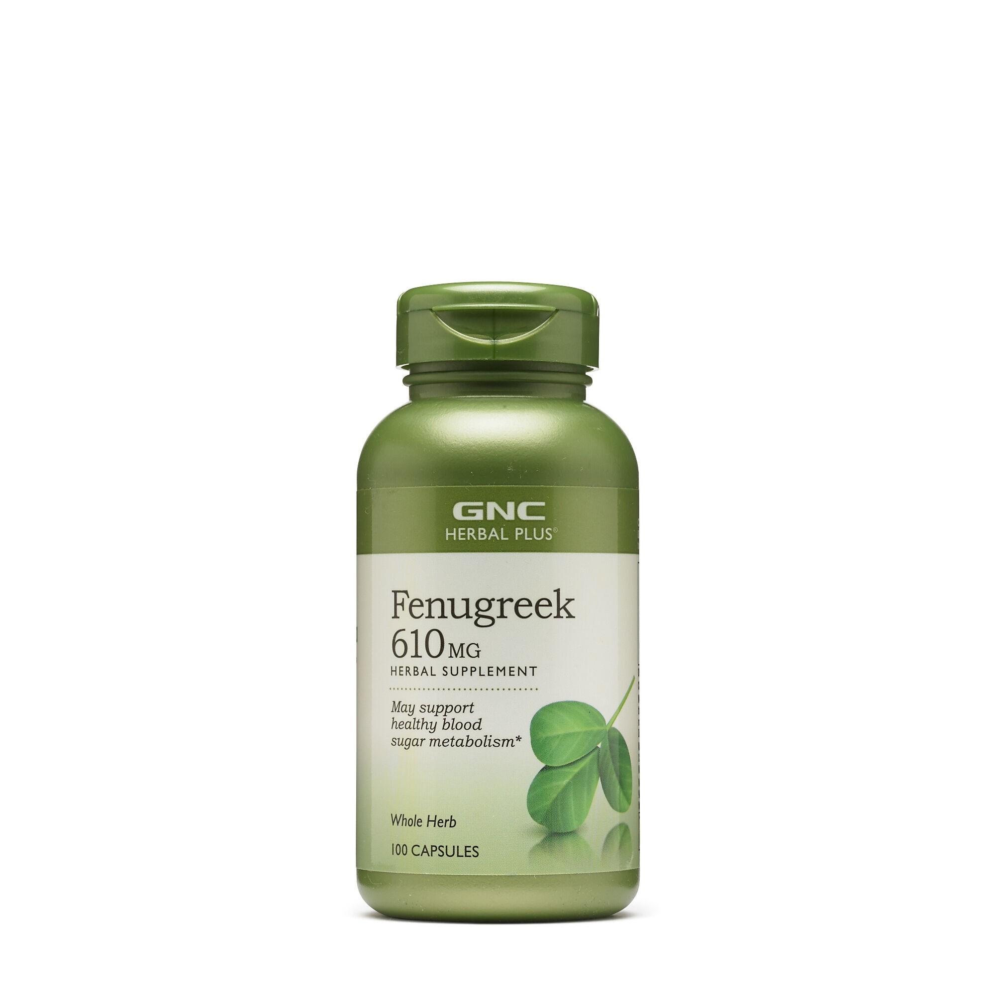 GNC Herbal Plus® Fenugreek 610 mg, Schinduf, 100 cps