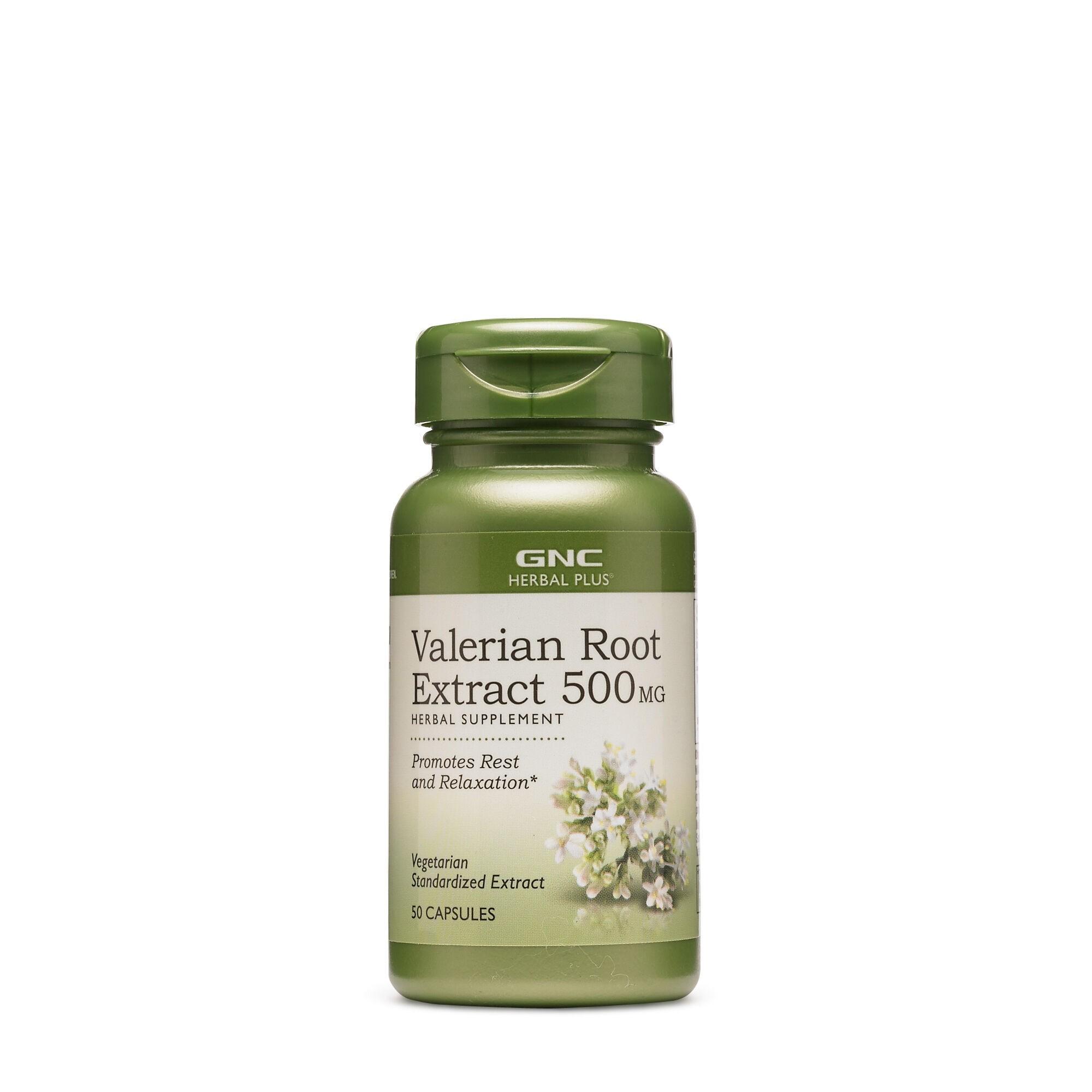 GNC Herbal Plus® Valerian Root 500 mg, Extract Standardizat din Radacina de Valeriana, 50 cps