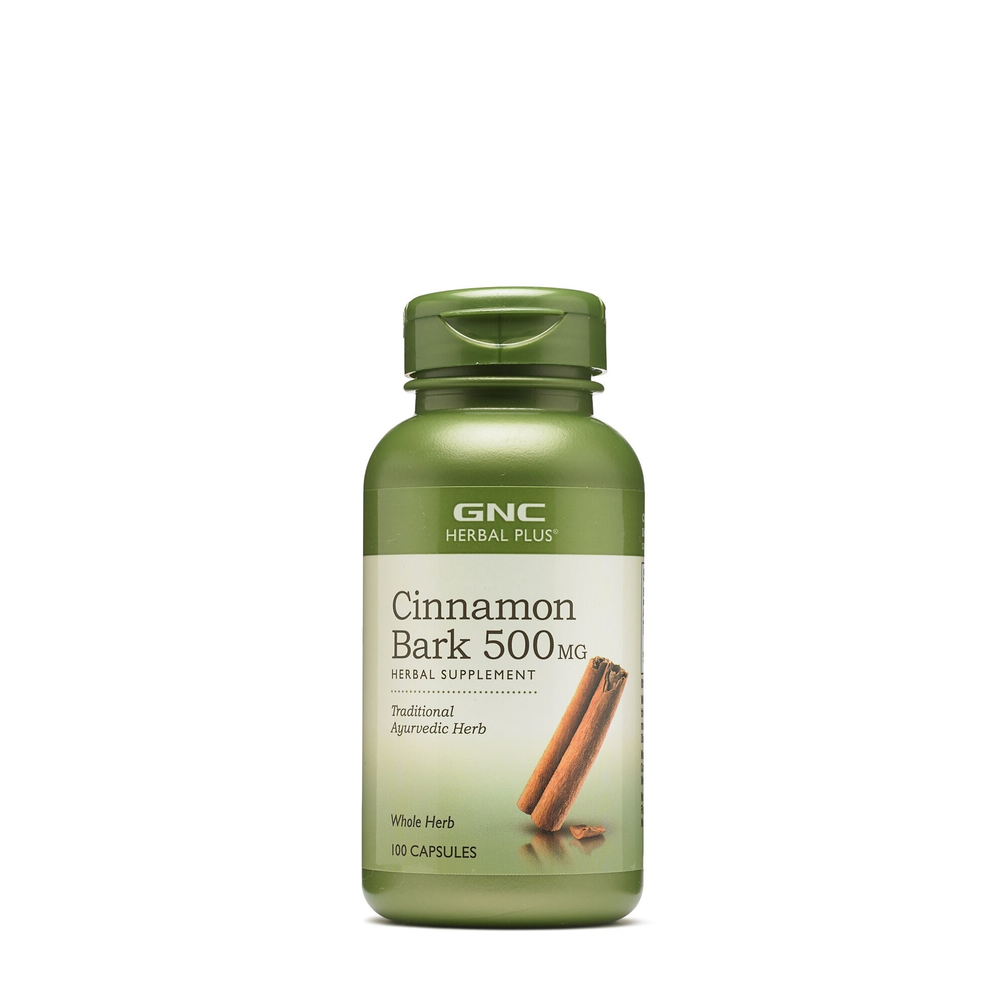 GNC Herbal Plus® Cinnamon Bark 500 mg, Scortisoara, 100 cps