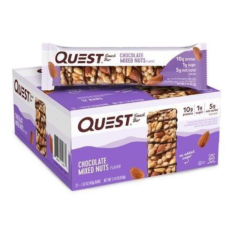 Quest® Snack Bar, Baton Proteic cu Aroma de Ciocolata si Mix de Nuci, 43 g
