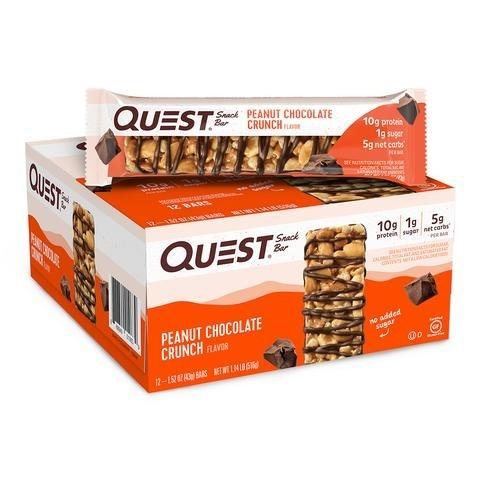 Quest® Snack Bar, Baton Proteic cu Aroma de Ciocolata si Unt de Arahide Crocant, 43 g