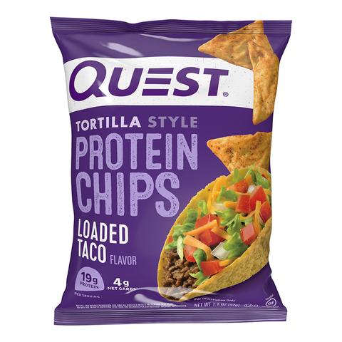 Quest® Tortilla Style Protein Chips, Chipsuri Proteice, cu Aroma de Taco, 32 g