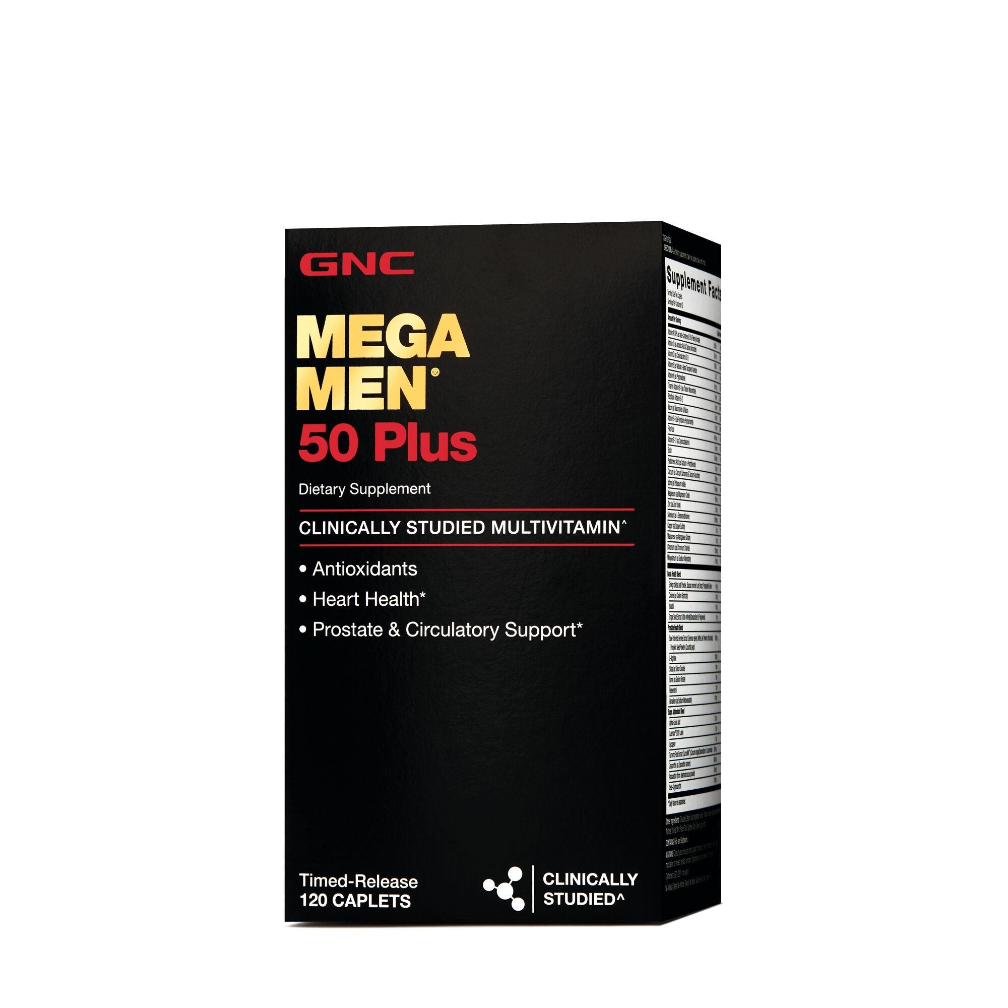 GNC Mega Men® 50 Plus, Complex de Multivitamine pentru Barbati 50 Plus, 120 tb