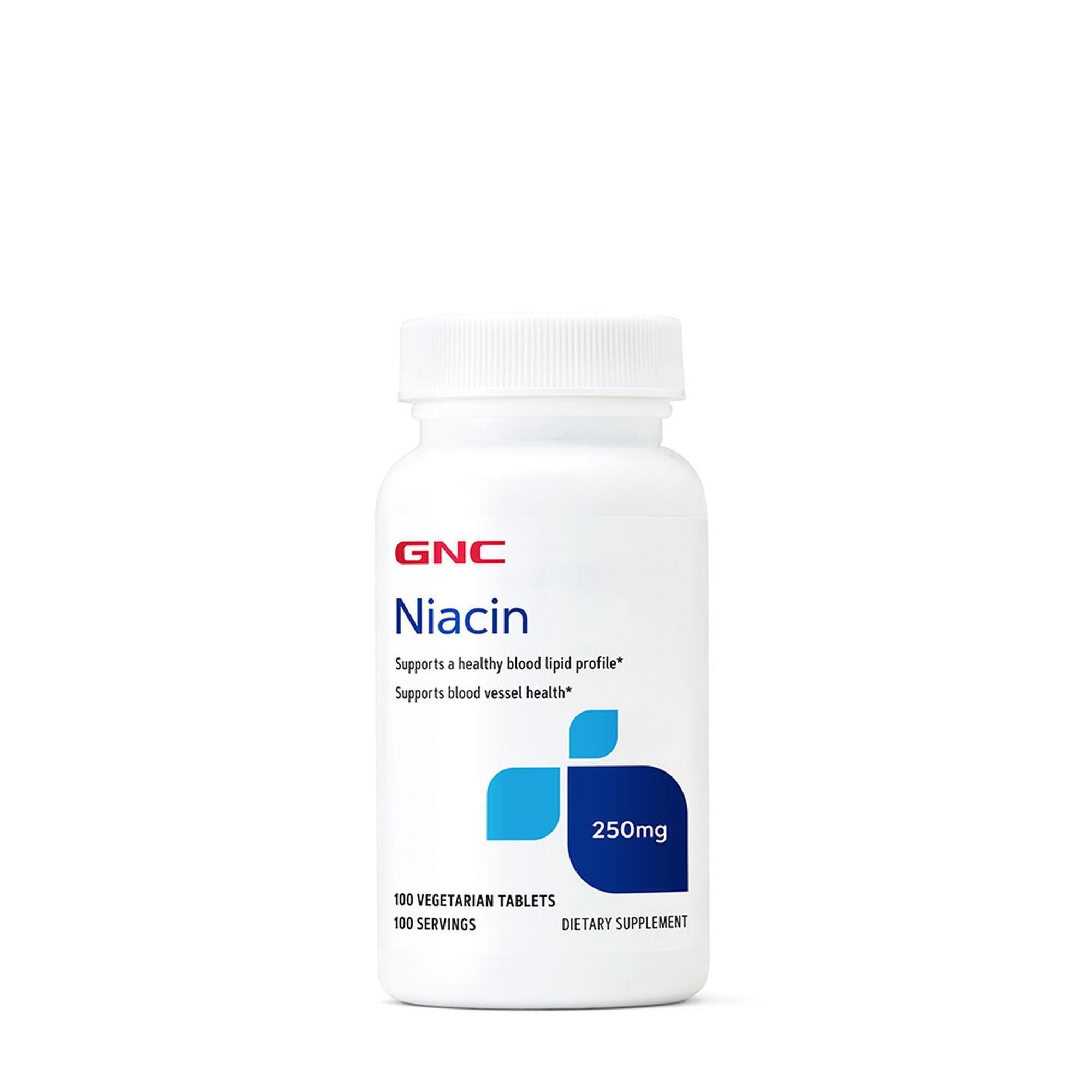 GNC Niacin 250 mg, Niacina, 100 tb