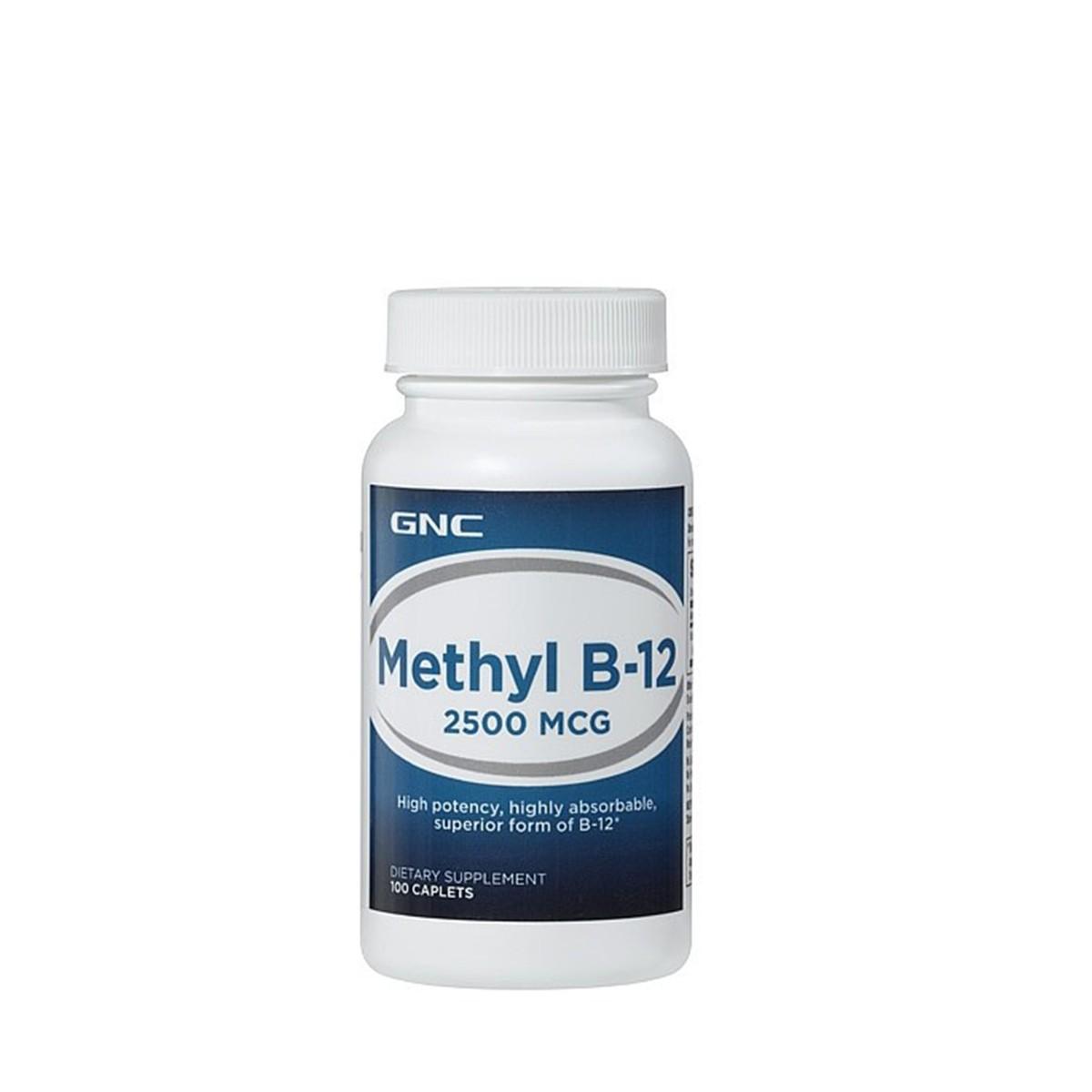 GNC Vitamina B-12 Metilcobalamina 2500 mcg, 100 Tablete