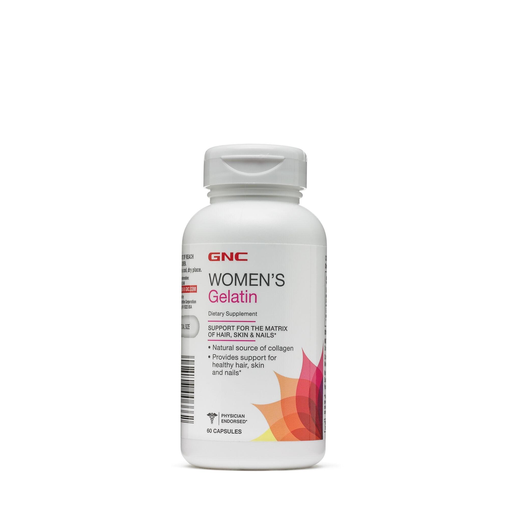 GNC Women`s Gelatin, Gelatina 778 mg, 60 cps