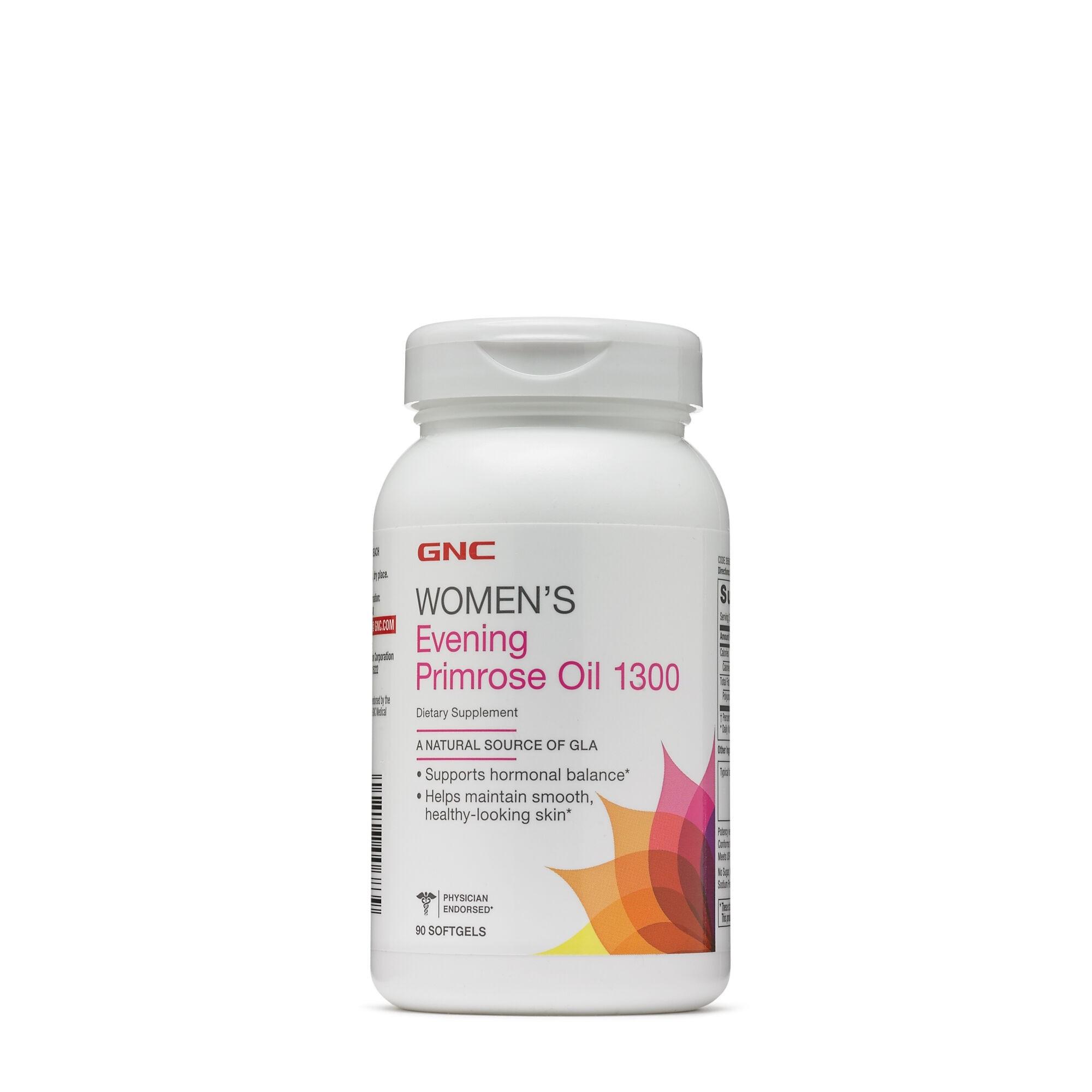 GNC Women`s Evening Primrose Oil 1300 mg, Ulei de Luminita Noptii, 90 cps