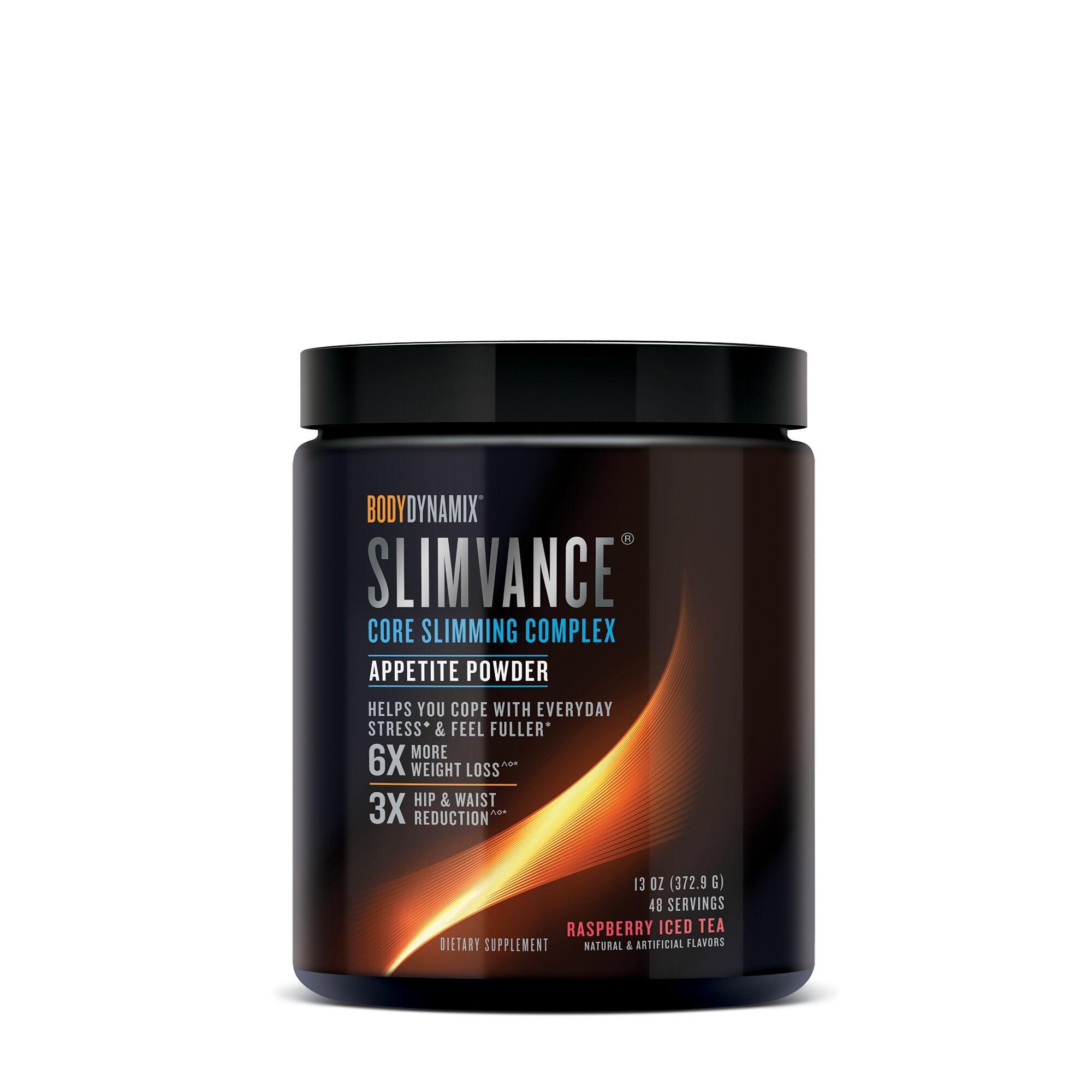 BodyDynamix™ Slimvance® Appetite Powder, Formula pentru Reglarea Apetitului, cu Aroma de Ceai Rece de Zmeura, 372.9g