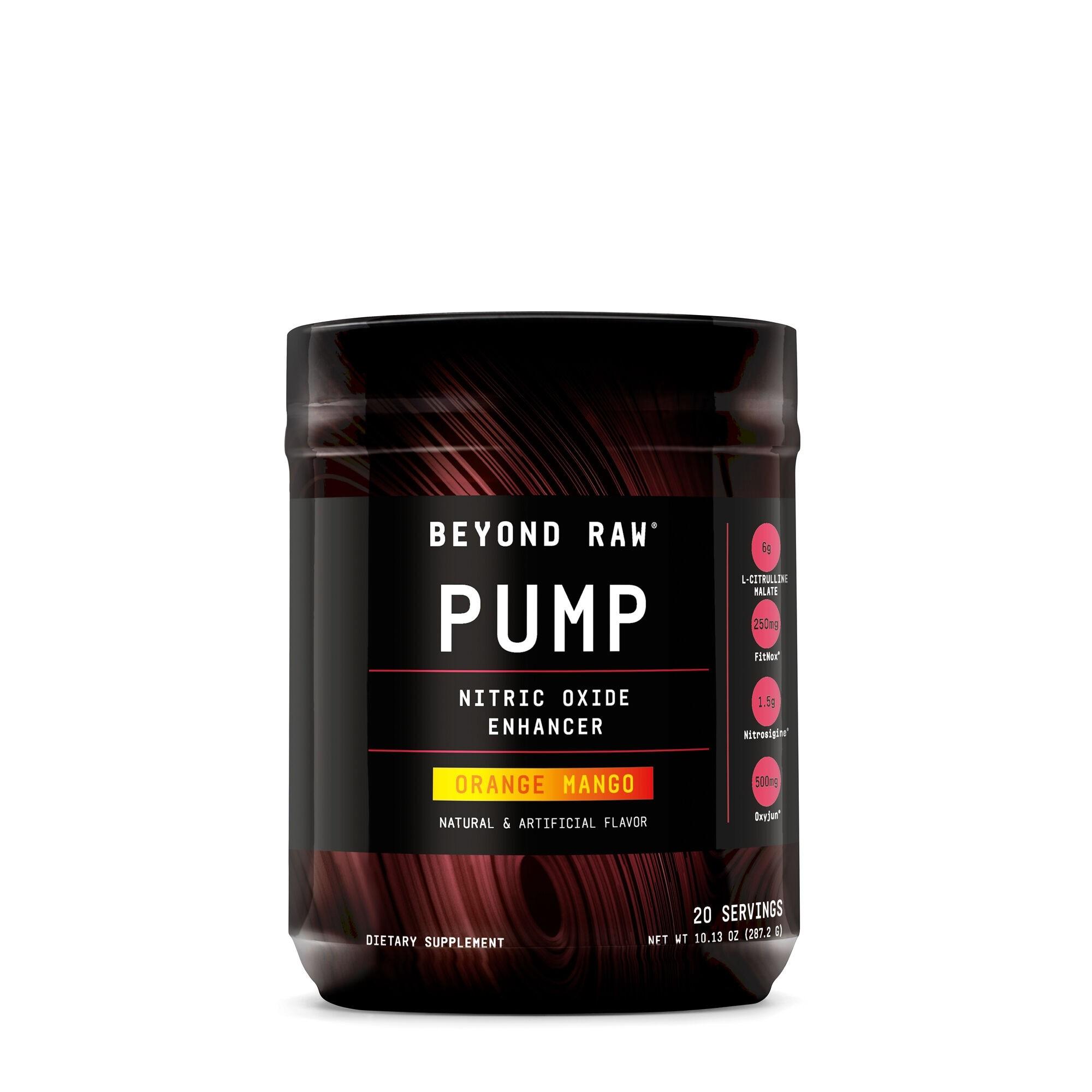 Beyond Raw® Pump: Pre-Workout Nitric Oxide Enhancer, cu Aroma de Portocale si Mango, 287.2 g