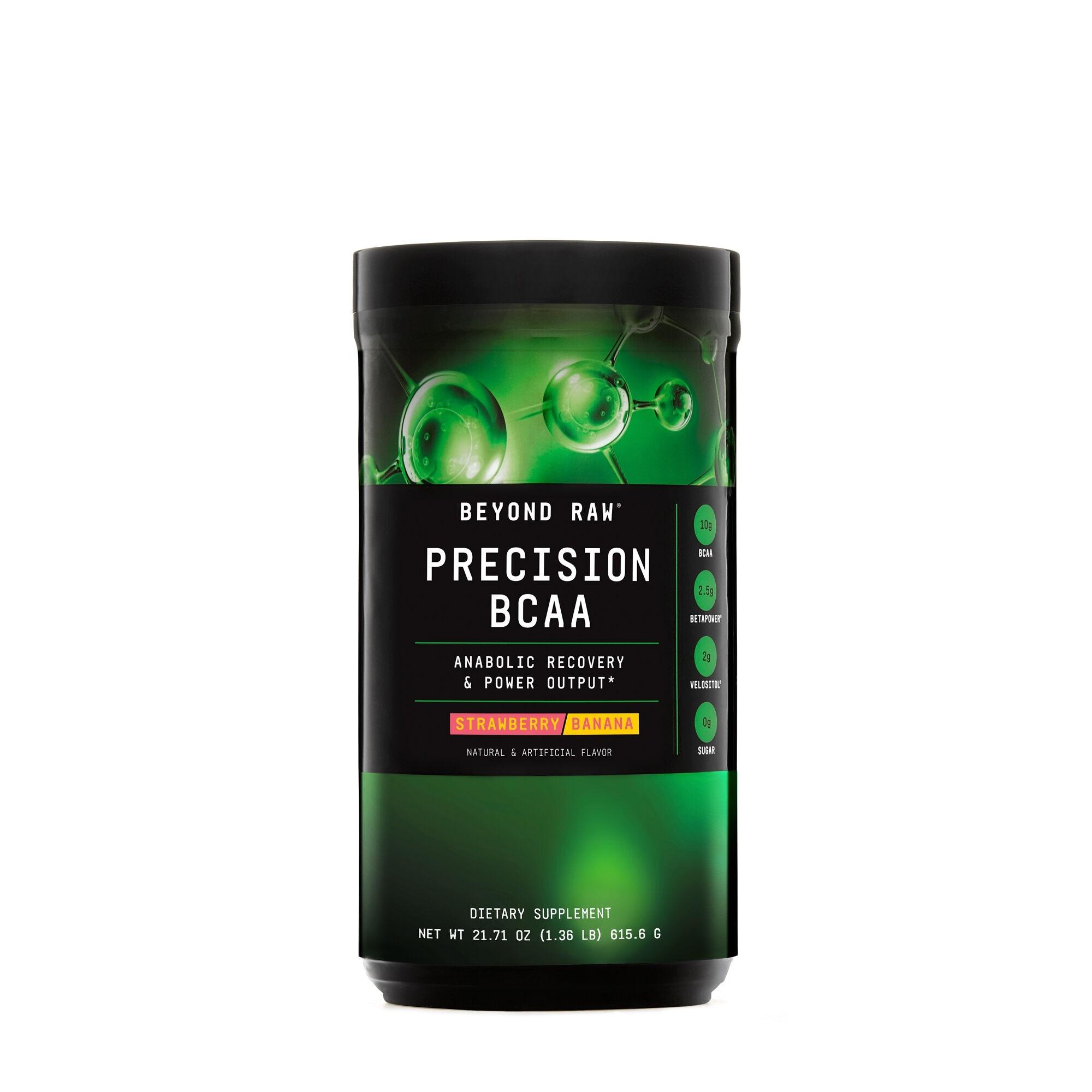 GNC Beyond Raw® Precision BCAA, Aminoacizi cu Aroma de Capsuni si Banane, 615.6 g