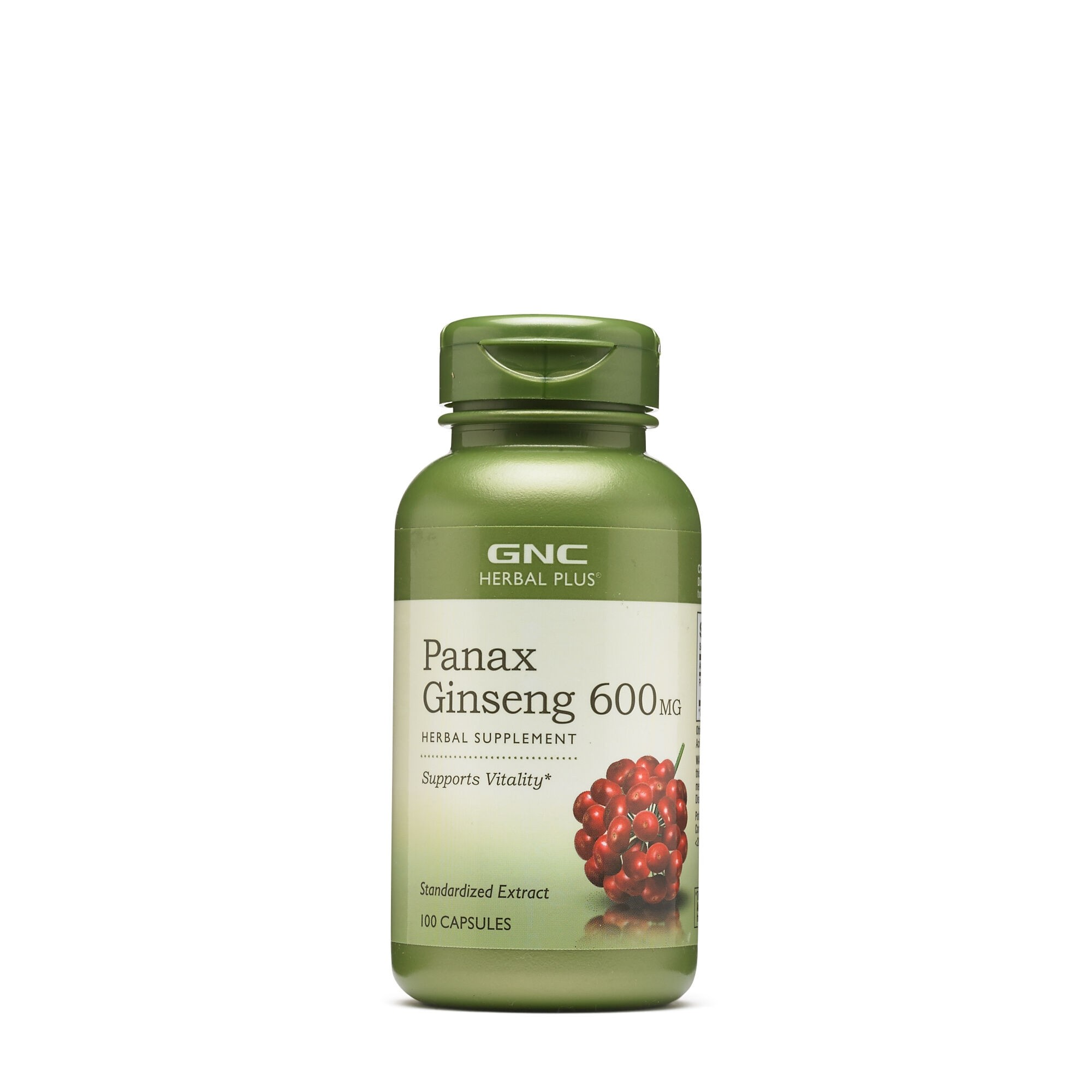 GNC Herbal Plus® Panax Ginseng 600 mg, Extract Standardizat de Ginseng, 100 cps