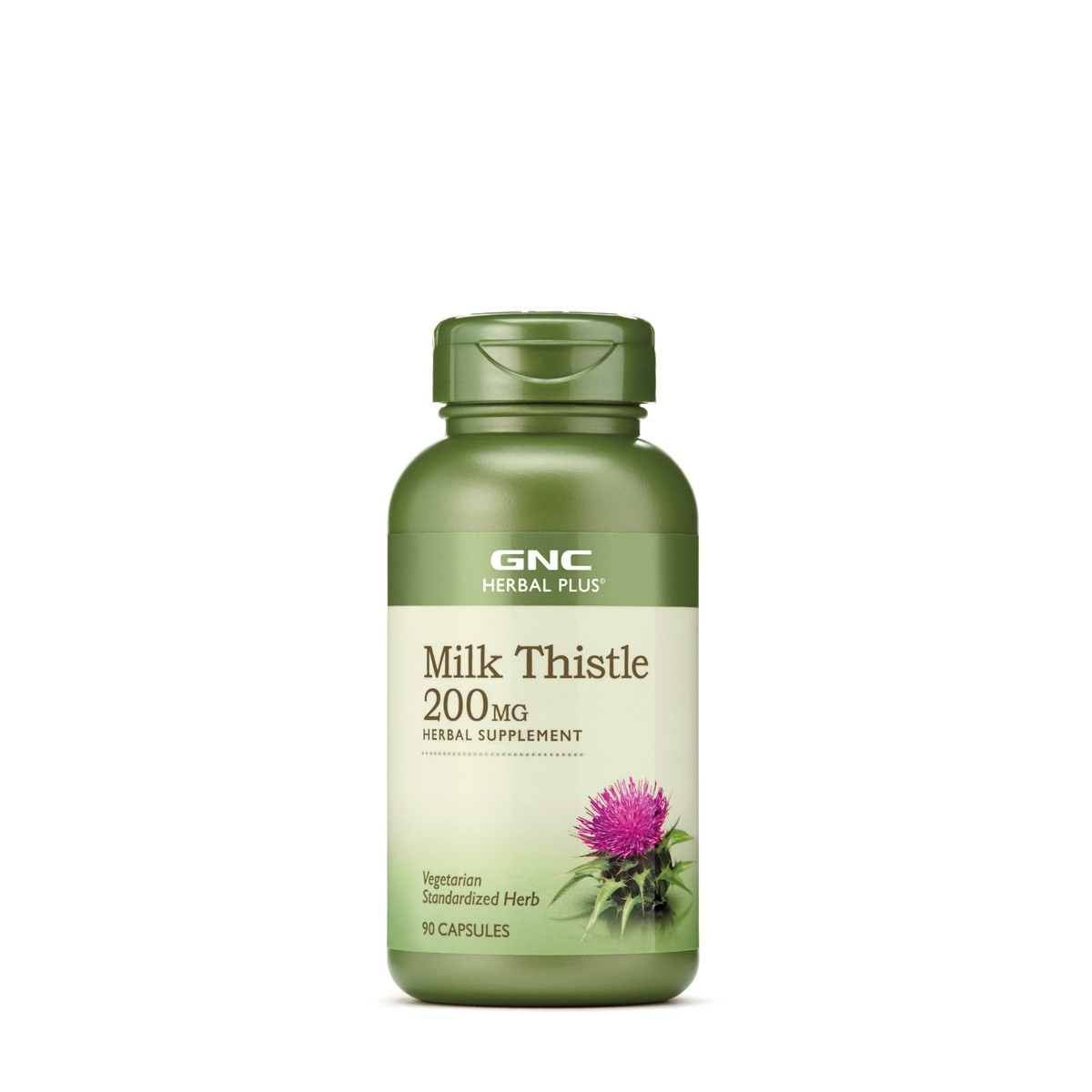 GNC Herbal Plus® Milk Thistle 200 mg, Silimarina, 90 cps
