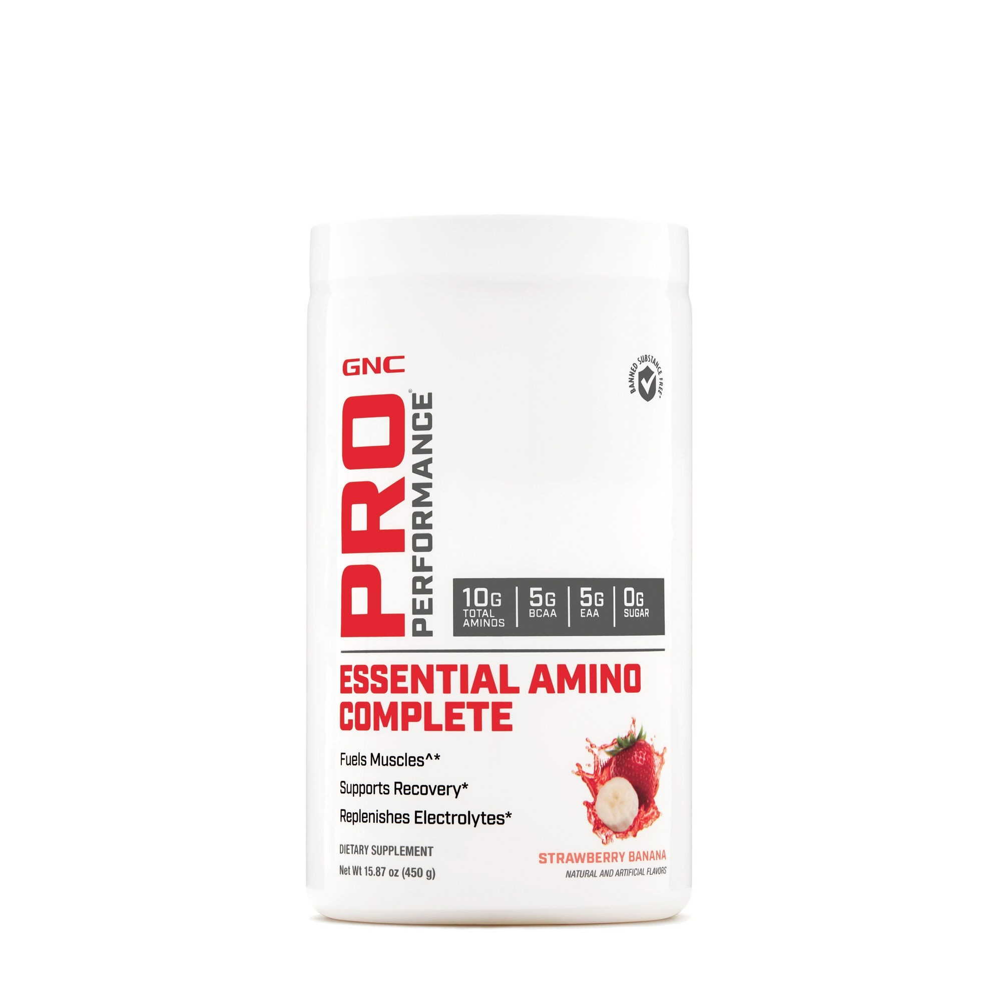 GNC Pro Performance® Essential Amino Complete, Aminoacizi, cu Aroma de Capsuni, 450 g
