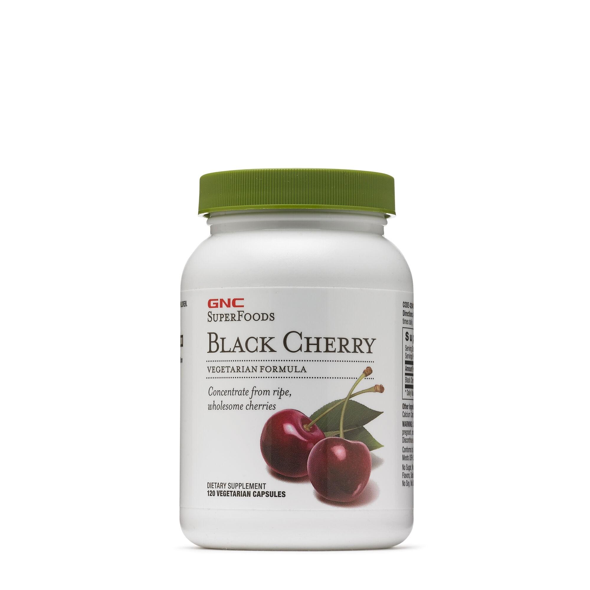 GNC SuperFoods Black Cherry, Concentrat de Cirese Negre, 120 cps