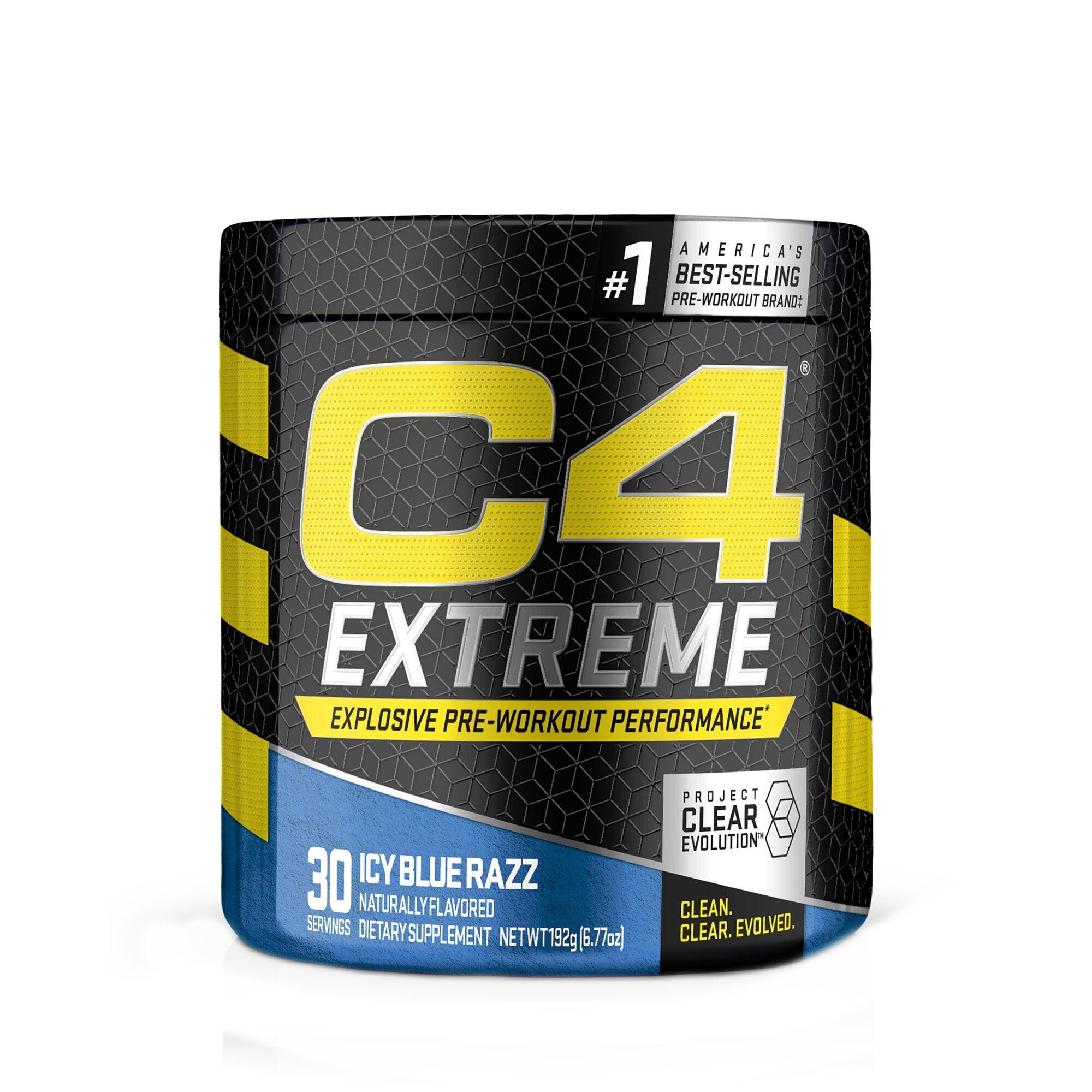 Cellucor® C4® Extreme Pre-Workout, cu Aroma de Icy Blue Razz,192 g