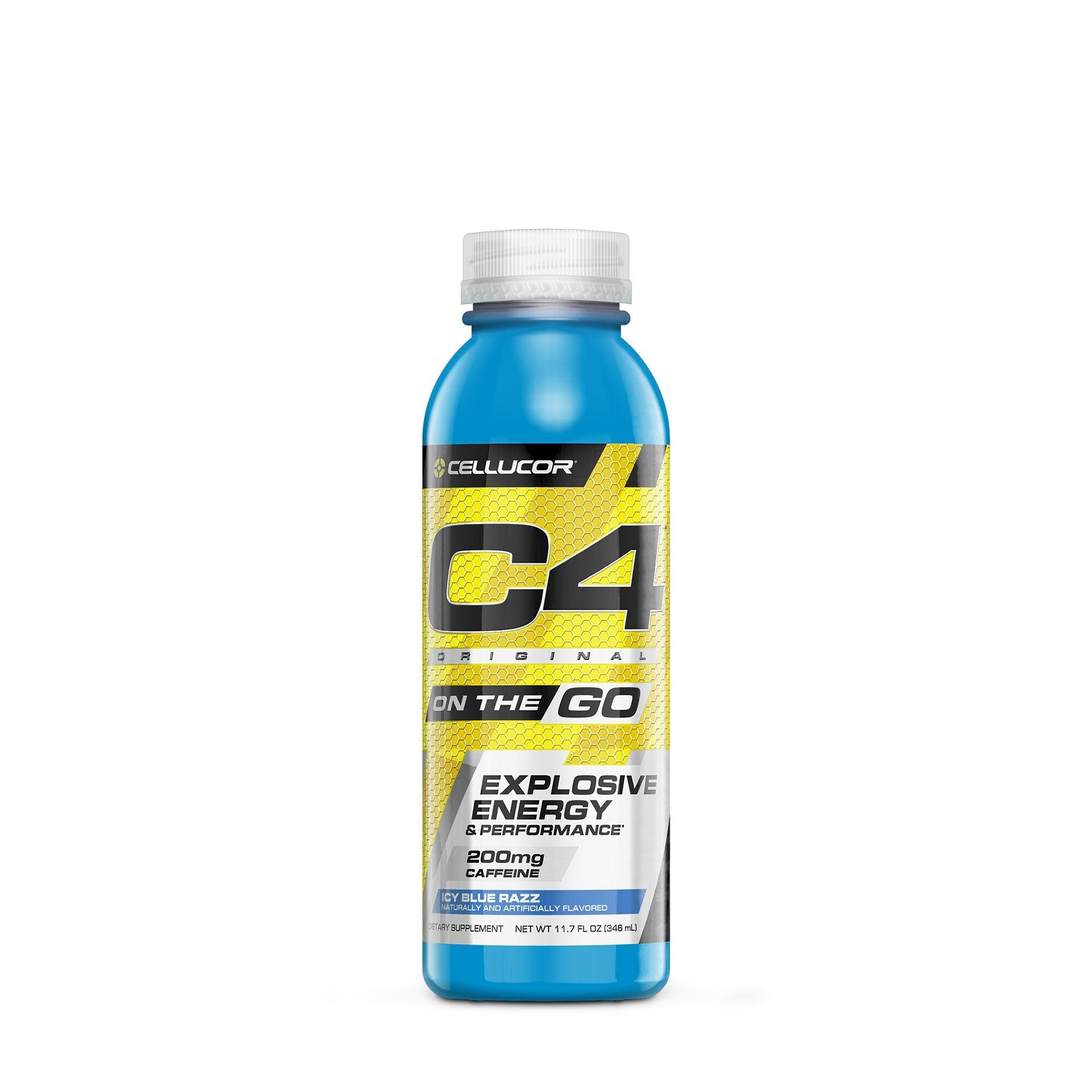 Cellucor® C4® Original On The Go, Formula Pre-Workout, cu Aroma Ice Blue Razz, 355 ml