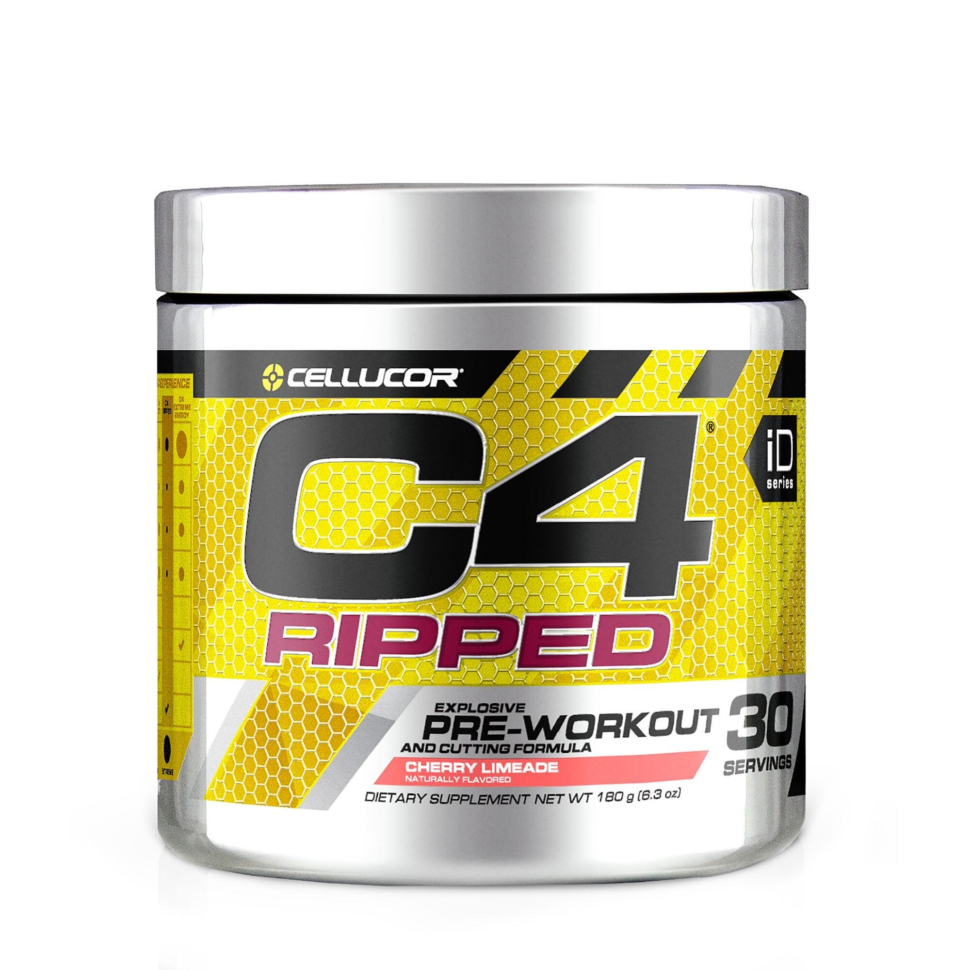 Cellucor® C4® Ripped, Formula Pre-Workout, cu Aroma de Limonada cu Cirese, 180 g