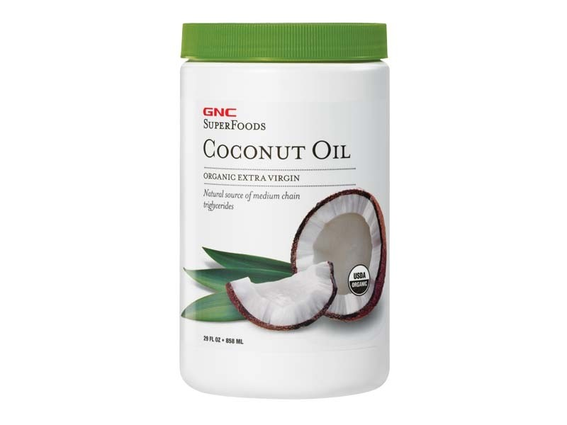 GNC SuperFoods Coconut Oil, Ulei de Cocos, 858 ml