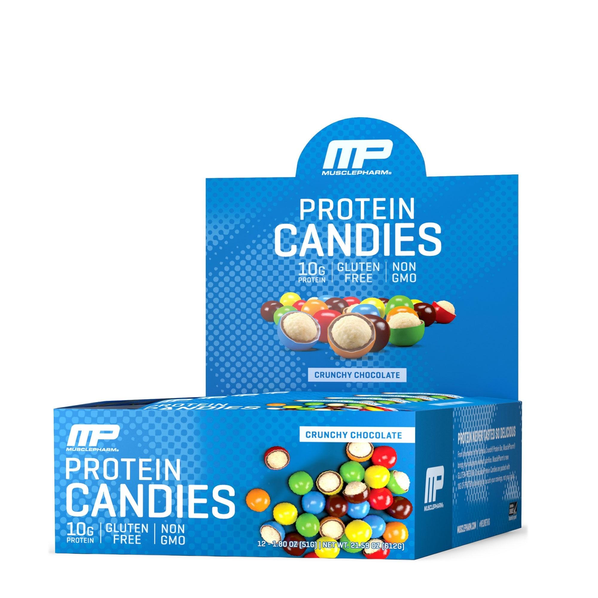 MusclePharm® Protein Candies, Bomboane Proteice, cu Aroma de de Ciocolata Crocanta, 51 g