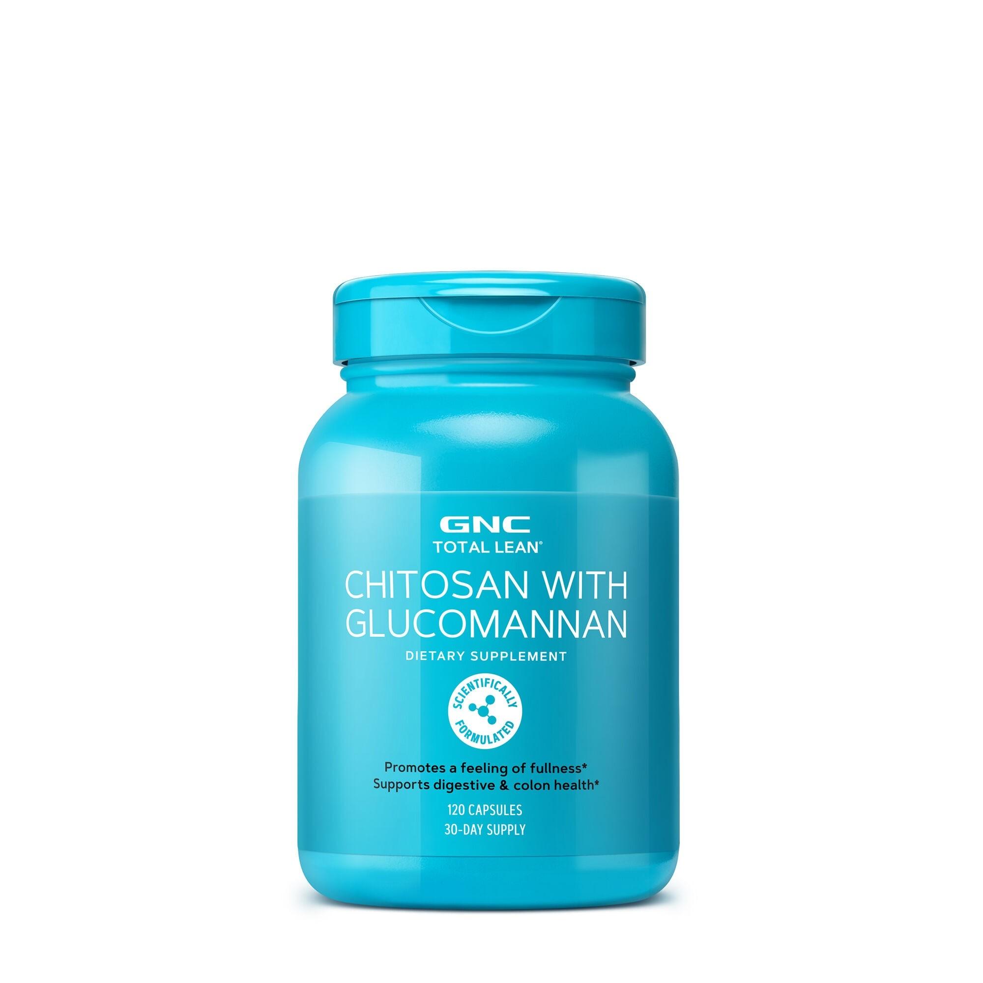 GNC Total Lean® Chitosan With Glucomannan, Chitosan cu Glucomannan, 120 cps