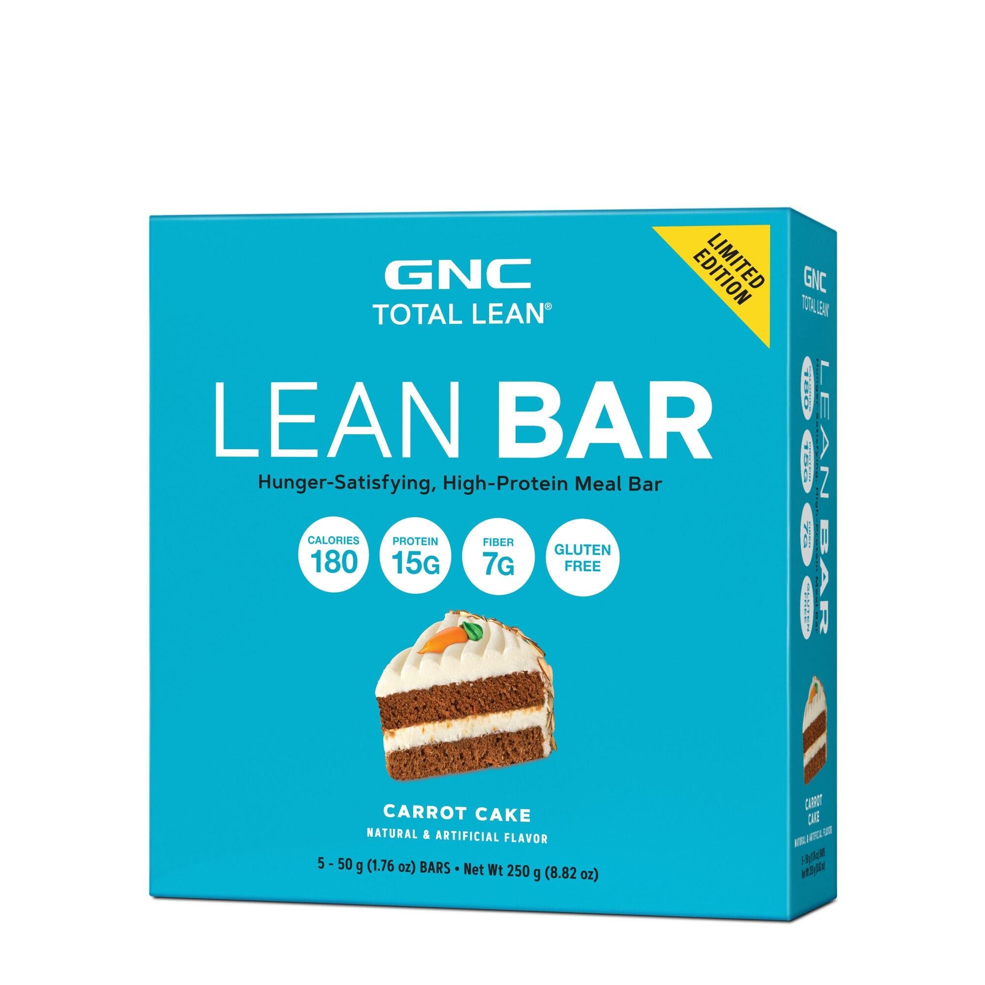 GNC Total Lean® Lean Bar, Baton Proteic, cu Aroma de Prajitura cu Morcov, 50g