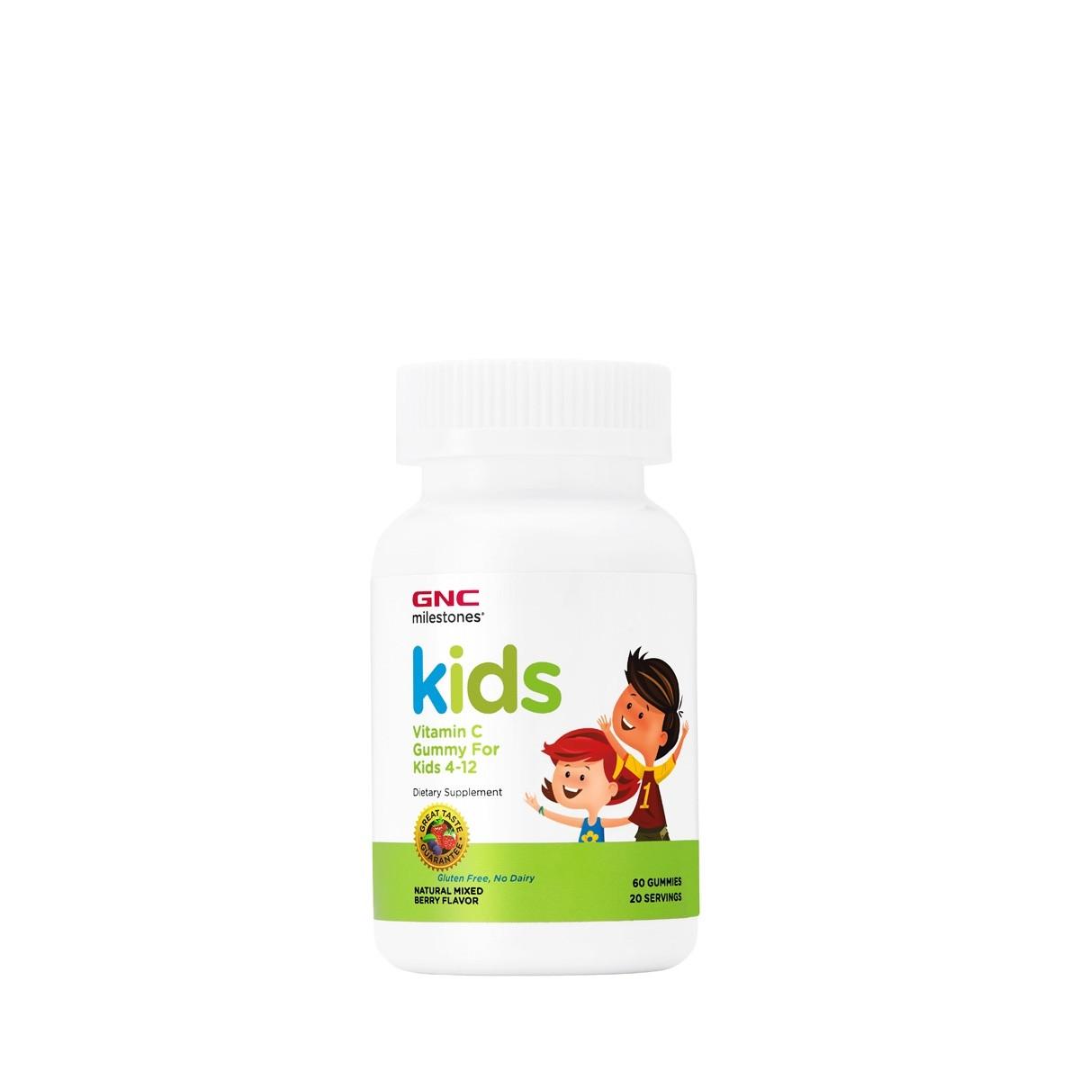 GNC Milestones® Kids Vitamina C, cu Aroma de Fructe de Padure, 60 Jeleuri