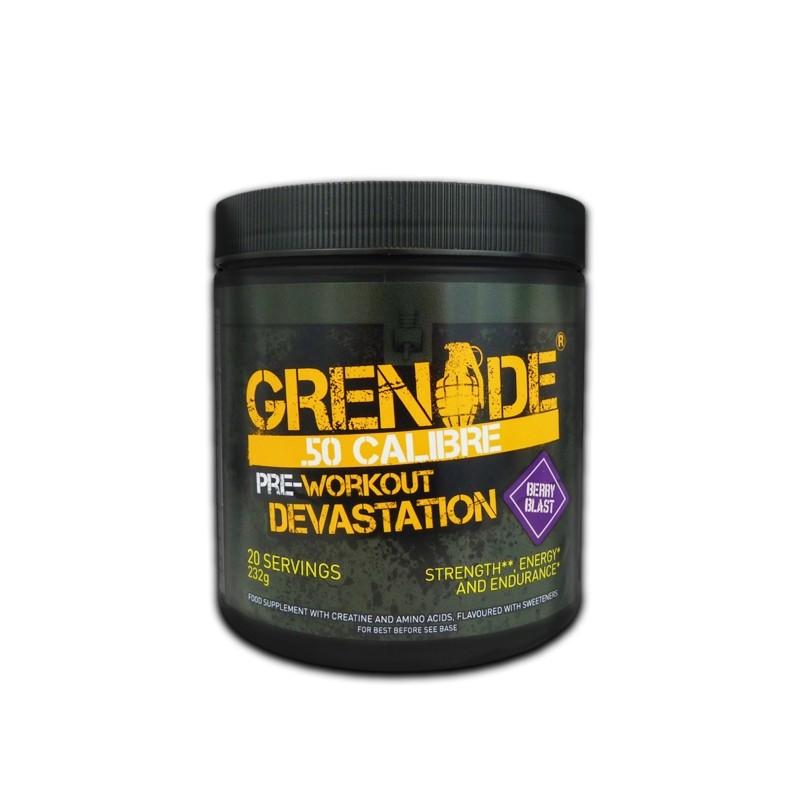 Grenade® .50 Calibre® Pre Workout, Complex pentru Energie, cu Aroma de Fructe de Padure, 232 g