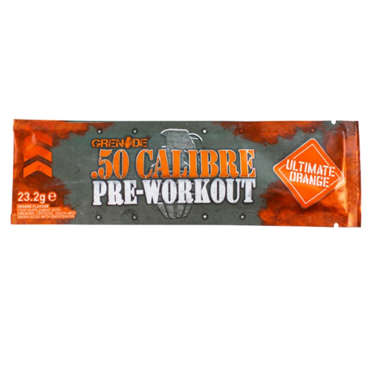 Grenade® .50 Calibre® Pre Workout, Complex pentru Energie, cu Aroma de Portocale, 23,2 g