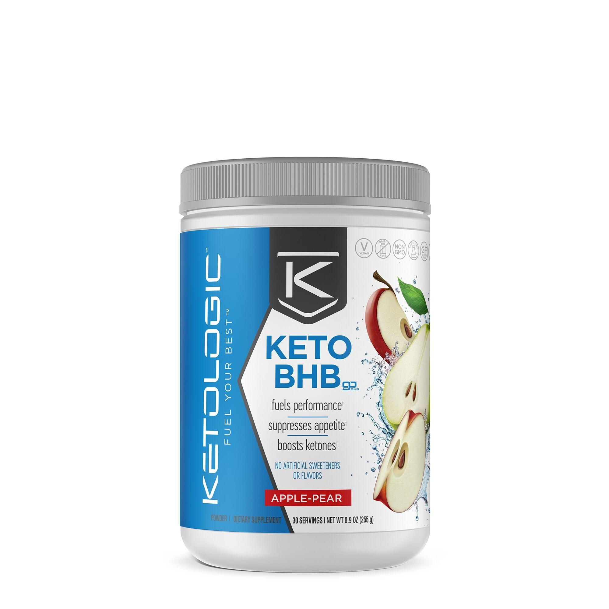 KetoLogic® BHB, cu Aroma de Mere si Pere, 255 g
