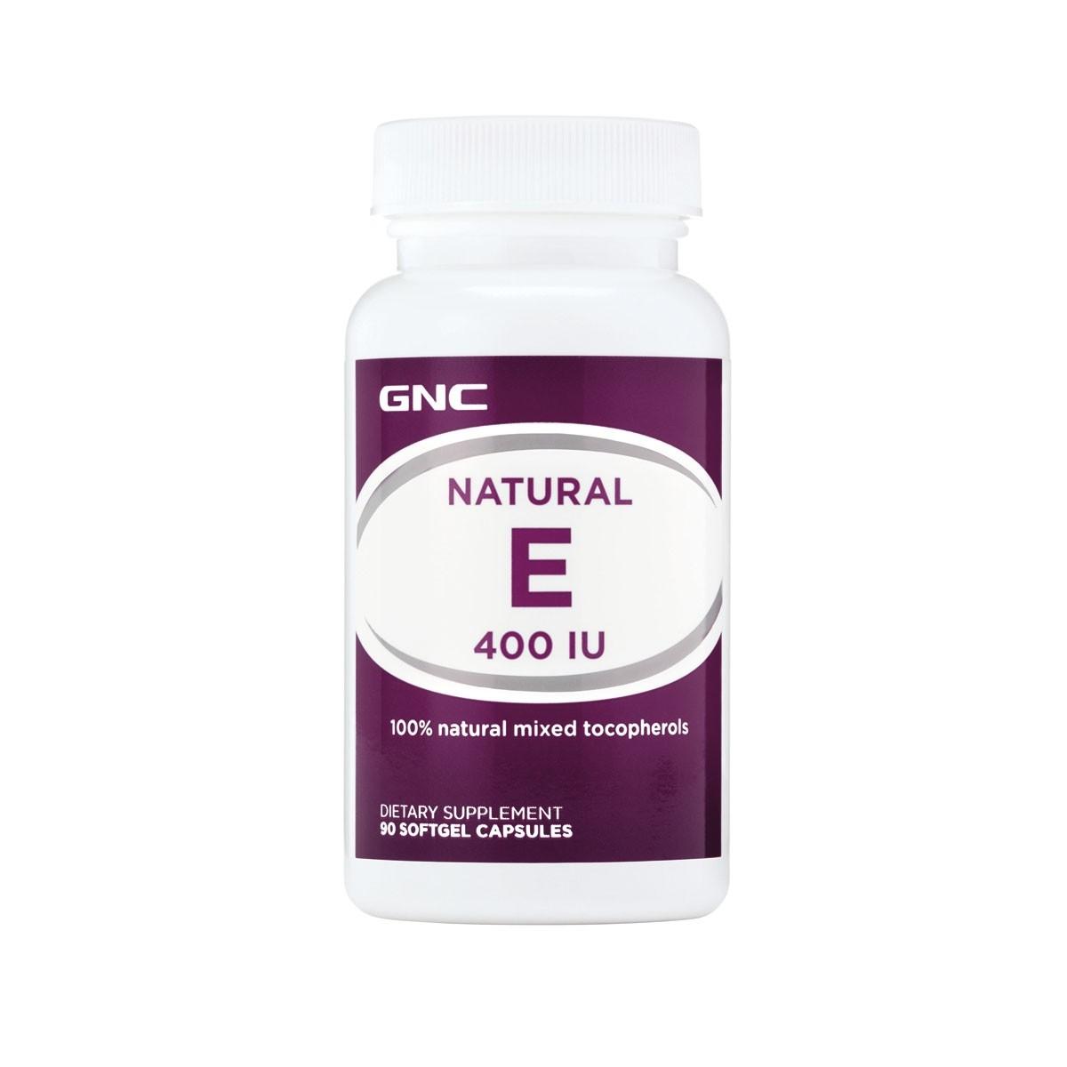 GNC Vitamina E Naturala 400 UI, 90 cps