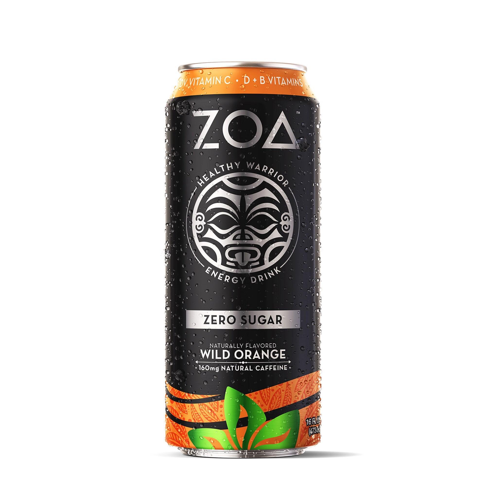 ZOA™ Energy Drink Zero Sugar Bautura Energizanta 0 Zahar cu Aroma de Portocale Salbatice, 473ml