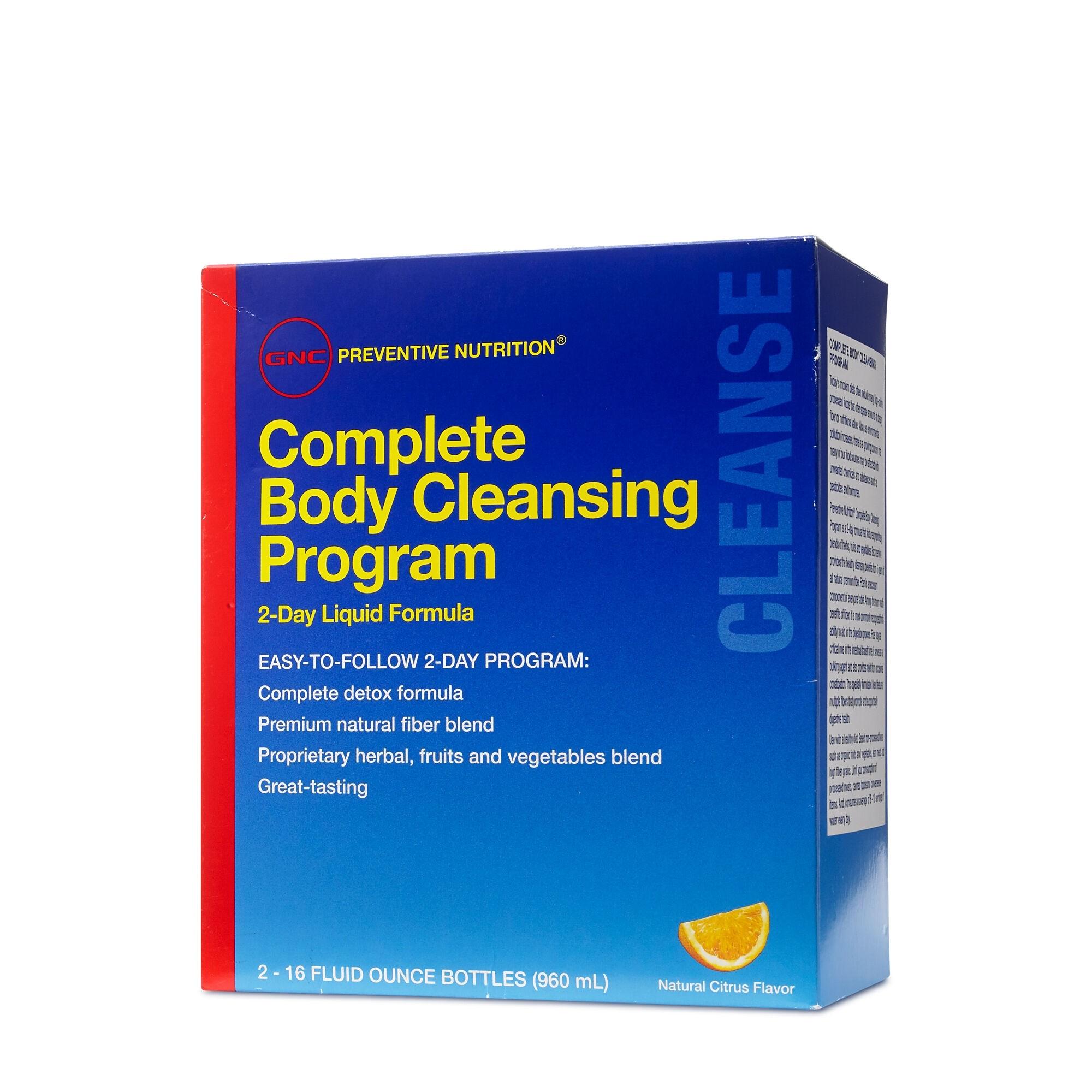 GNC Preventive Nutrition® Complete Body Cleansing Program, Program de Curatare Completa in 2 Zile, cu Aroma de Citrice, 960 ml
