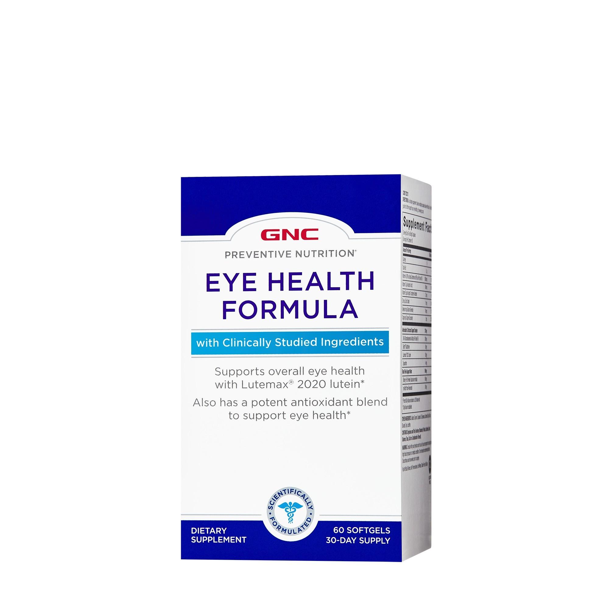 GNC Preventive Nutrition Eye Health, Formula Pentru Sanatatea Ochilor, 60 cps