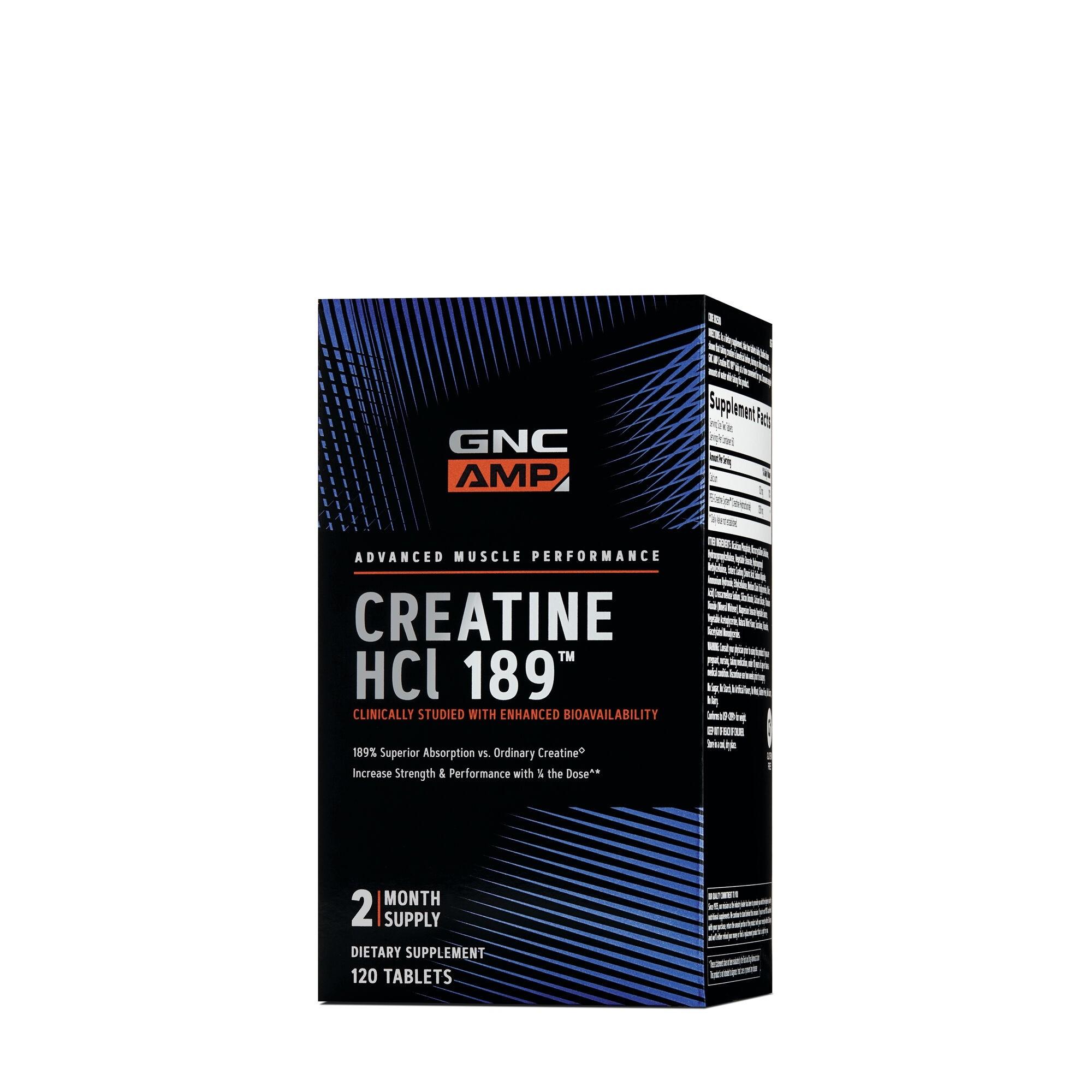 GNC AMP Creatine HCl 189™, Creatina, 120 tb