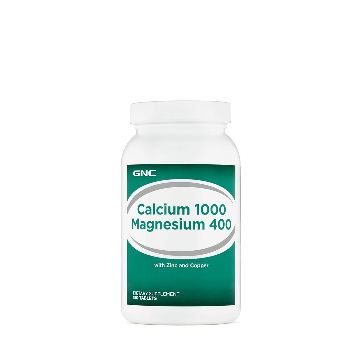 GNC Calciu 1000 mg Magneziu 400 mg, 180 tb