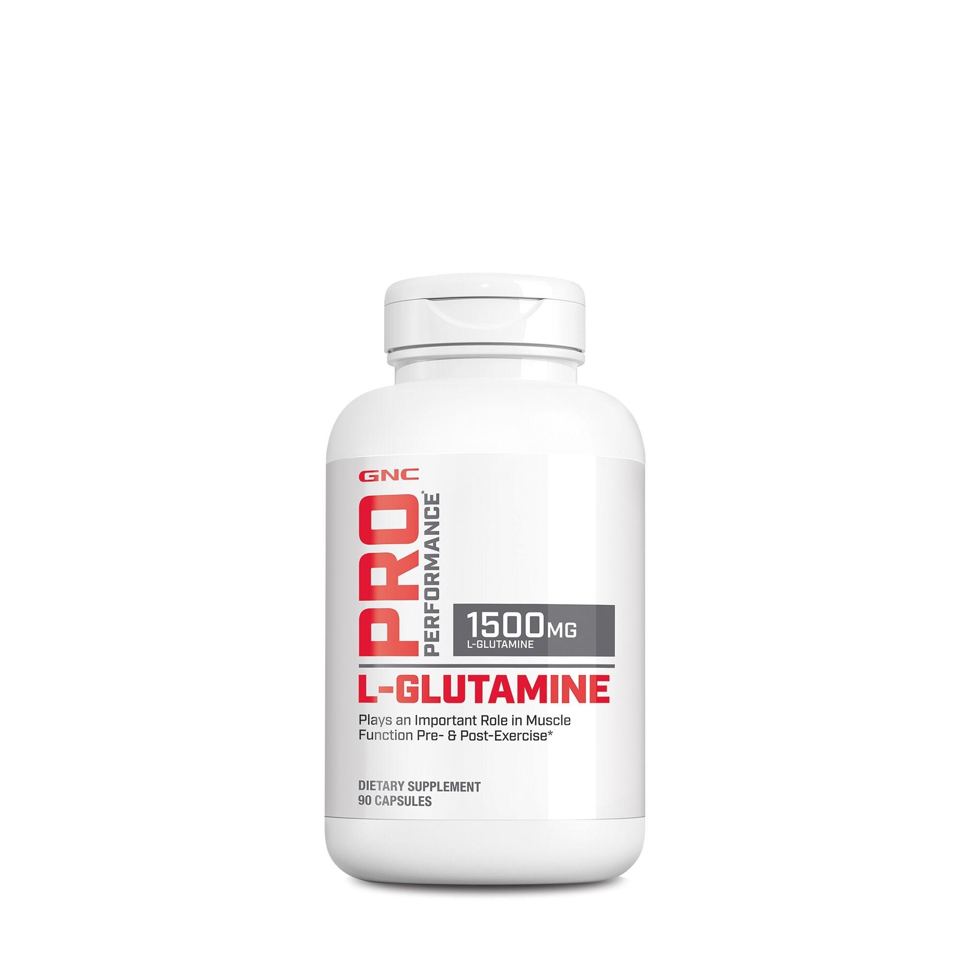 GNC Pro Performance® L-Glutamine 1500 mg, Glutamina, 90 cps