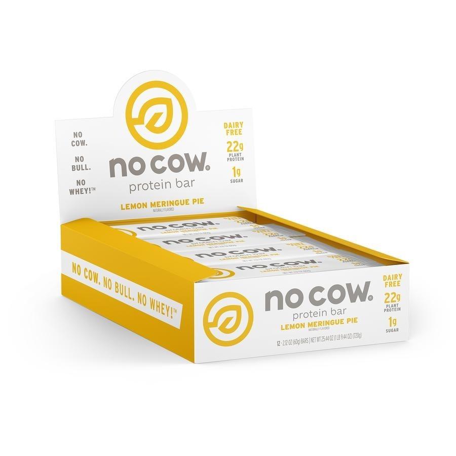 No Cow® Baton Proteic cu Aroma de Placinta de Lamaie, 60 g