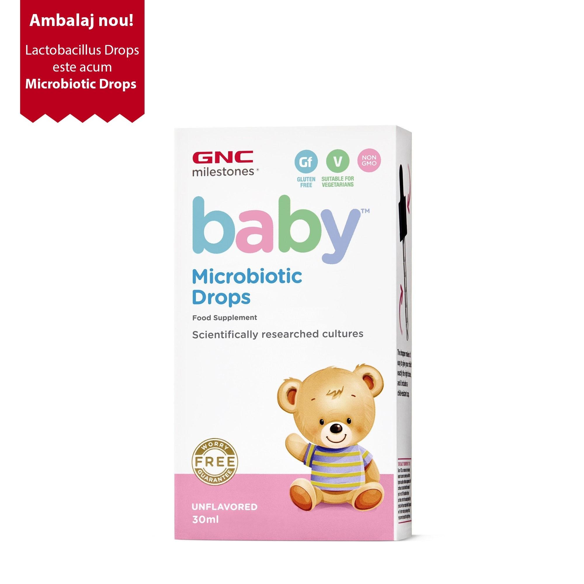 GNC Milestones® Baby™ Microbiotic Drops, Probiotic Picaturi Pentru Bebelusi, 30 ml
