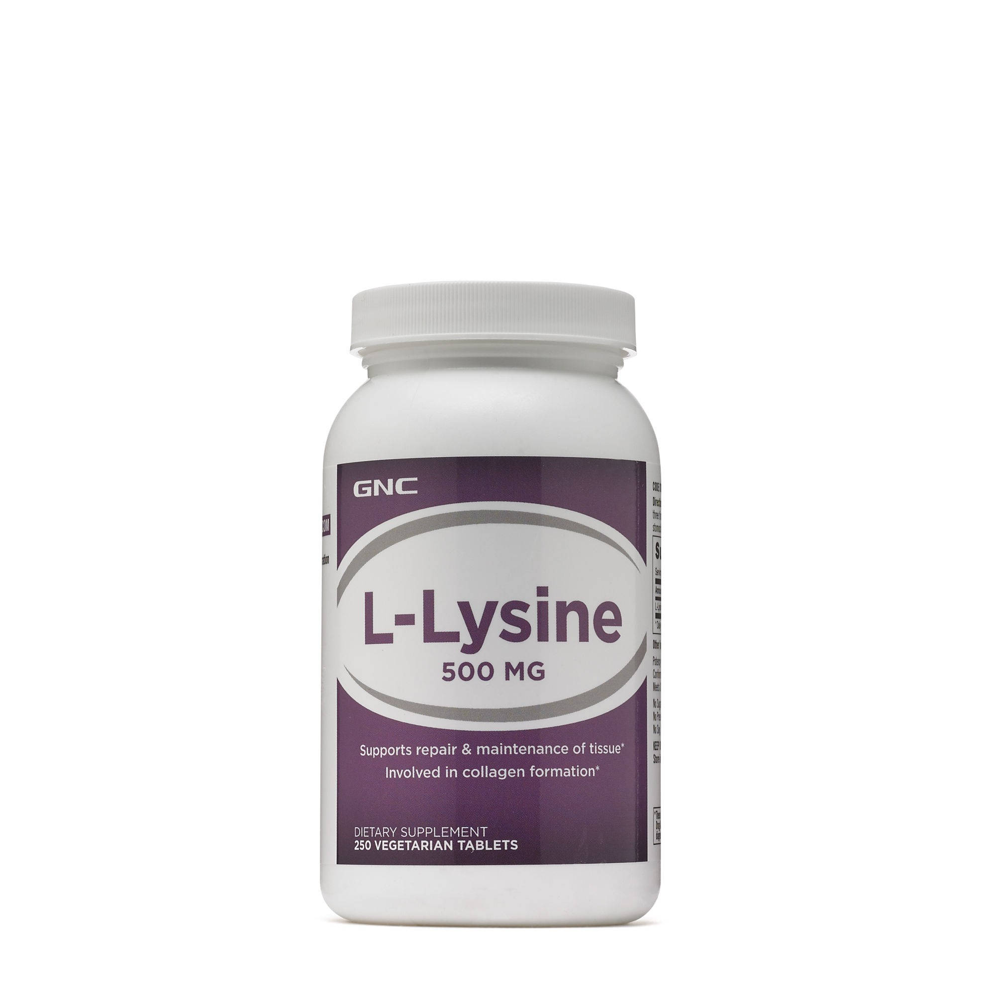 GNC L-Lysine 500 mg, L-Lizina, 100 tb