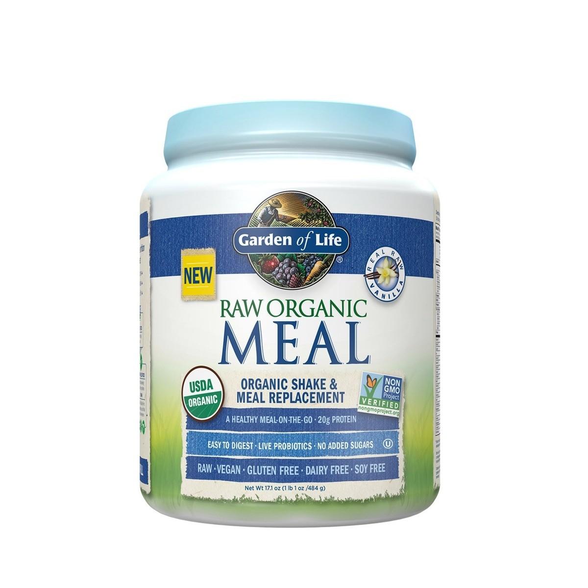 Garden of Life® RAW Meal™, Proteina Organica Vegetala, Cu Aroma De Vanilie, 484 g