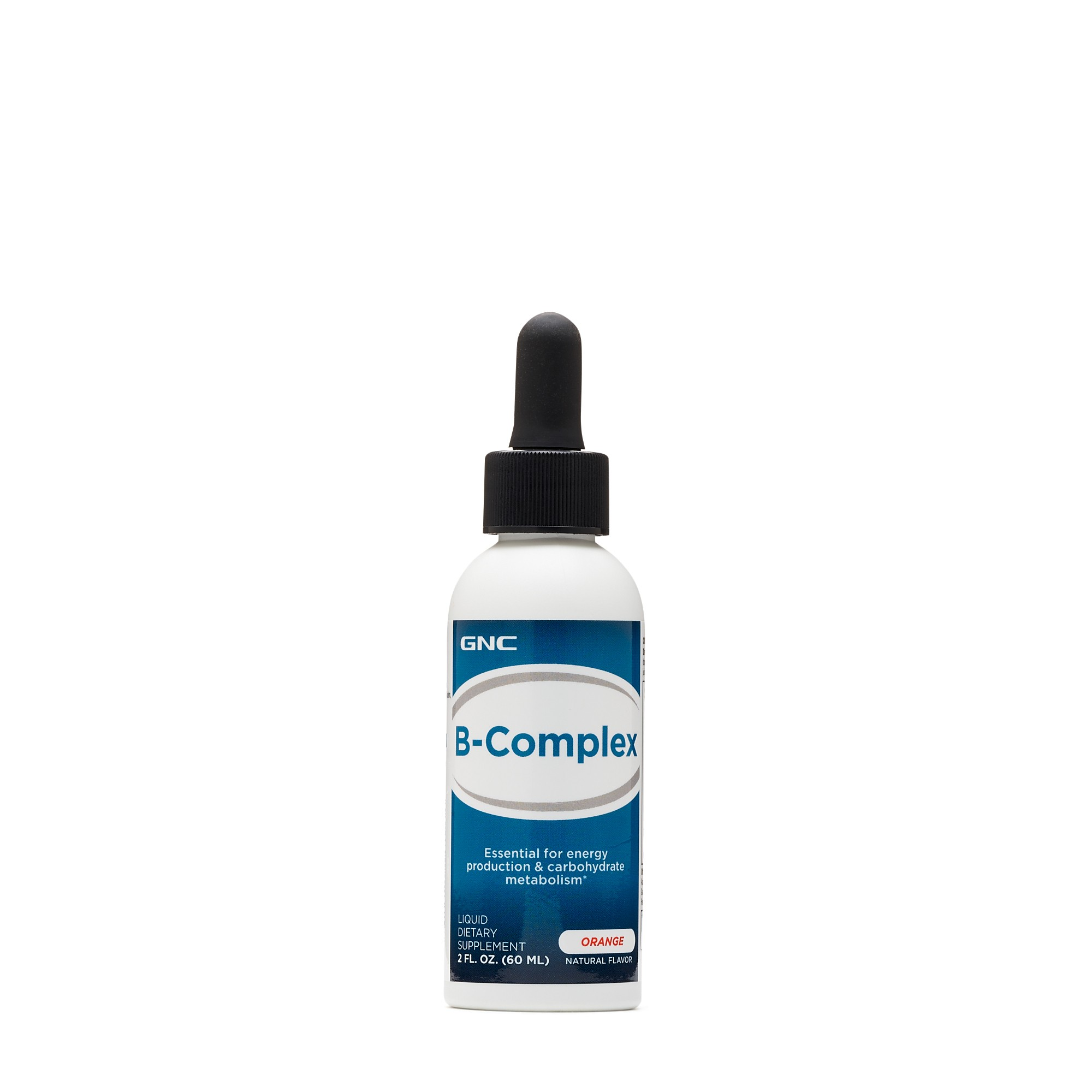 GNC B-Complex, Complex de Vitamine B Lichid, cu Aroma Naturala de Portocale, 60 ml