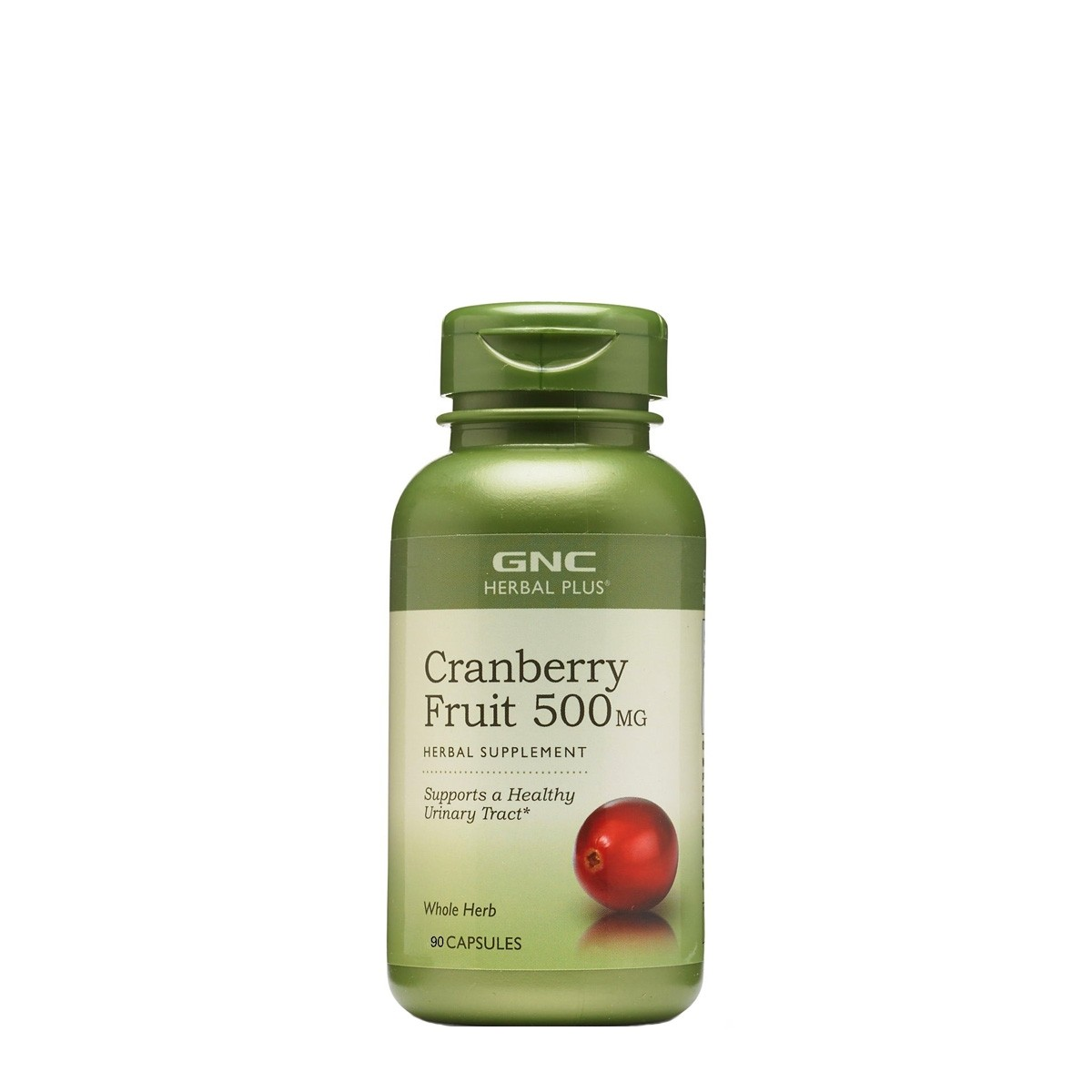 GNC Herbal Plus® Cranberry Fruit 500 mg, Extract din Fruct de Merisor, 90 cps