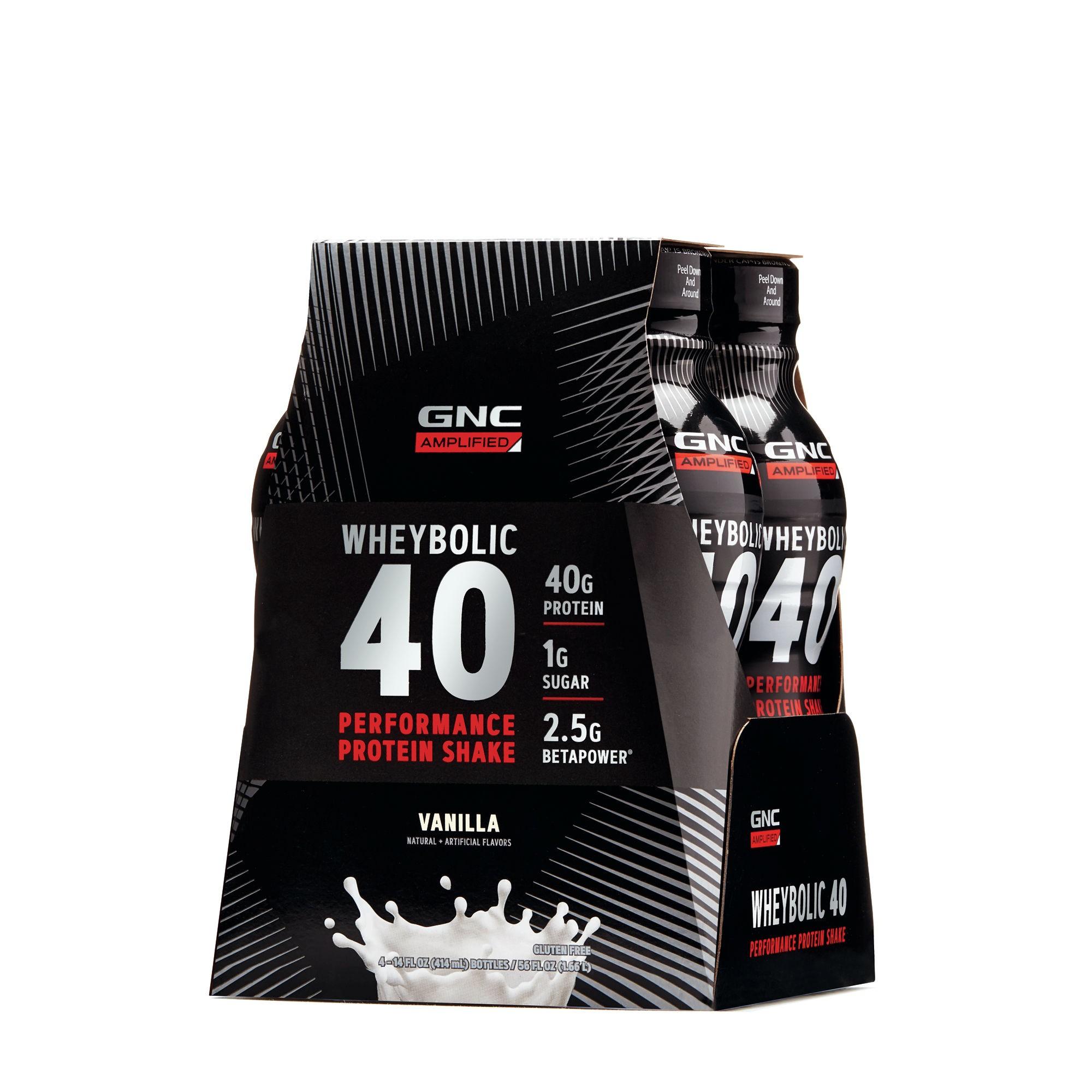 GNC AMP Wheybolic 40, Shake Proteic, cu Aroma de Vanilie, 414 ml